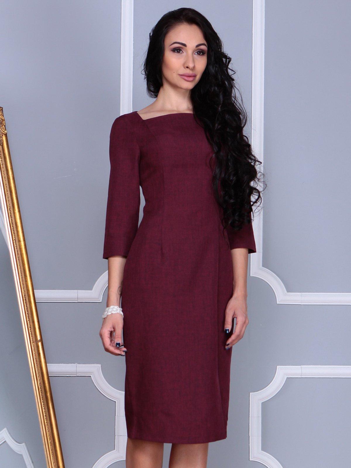 Платье темно-сливовое | 3858529