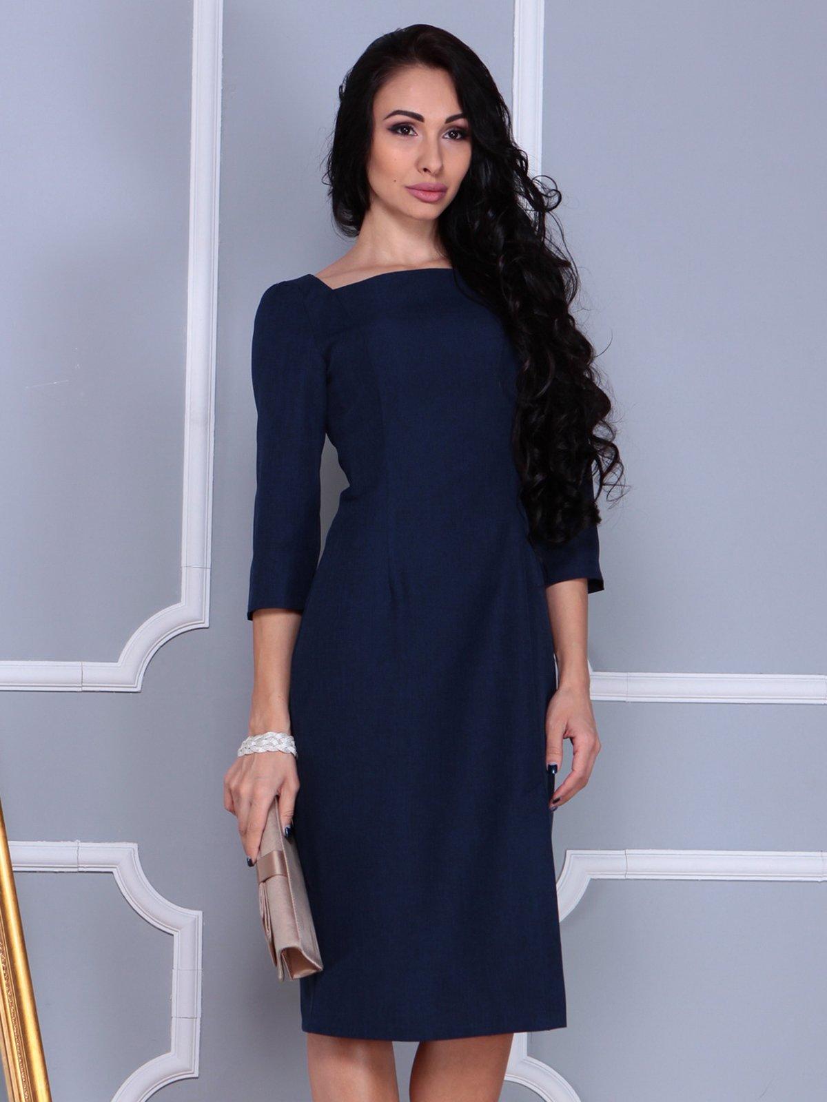 Платье темно-синее   3858530