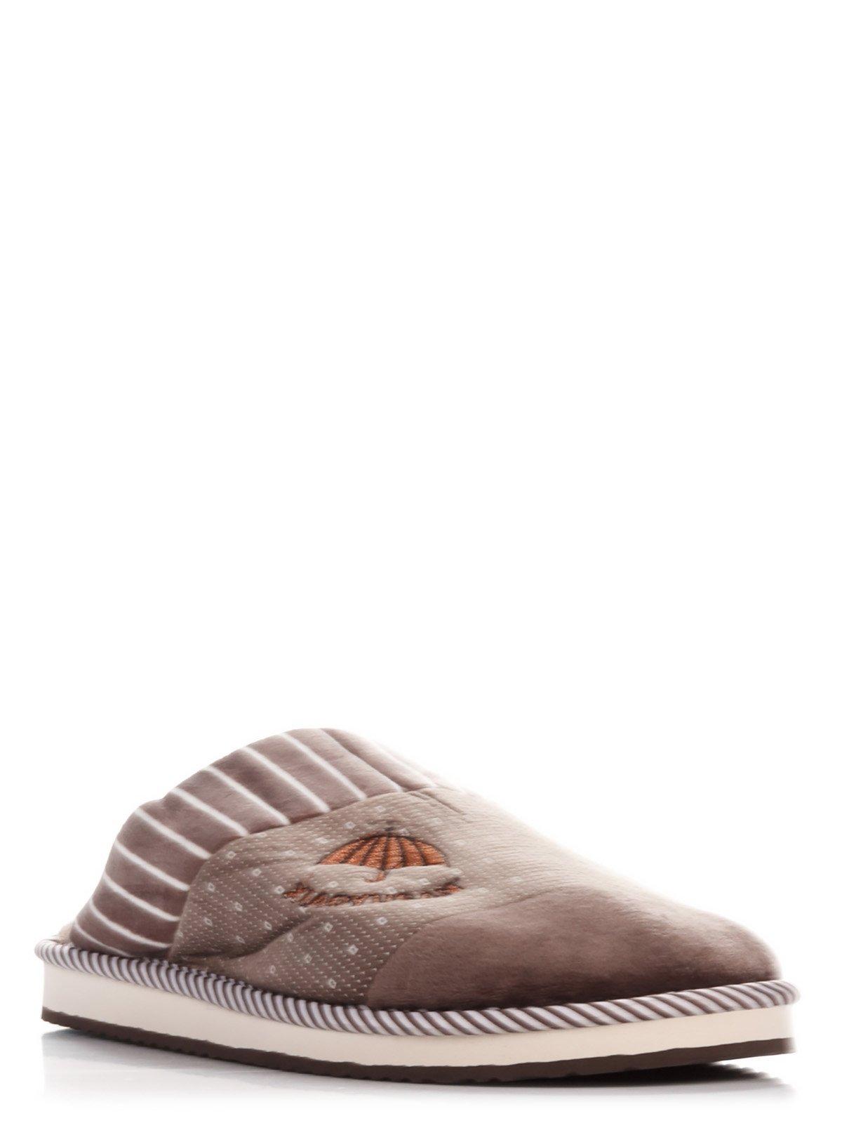 Тапочки коричневые с принтом   3859027