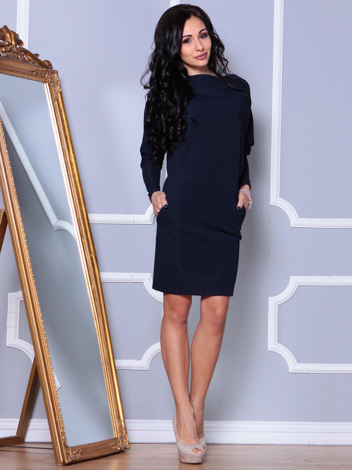Платье темно-синее | 3862496