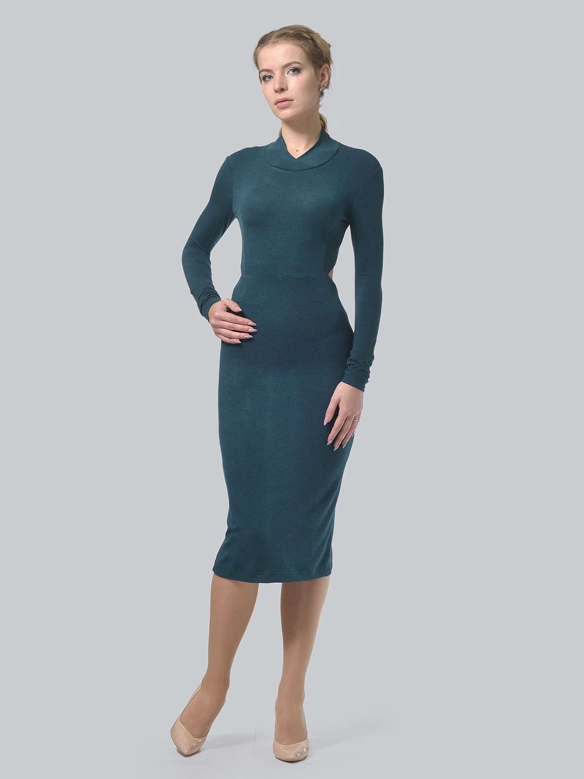 Платье темно-зеленое   3692902   фото 2