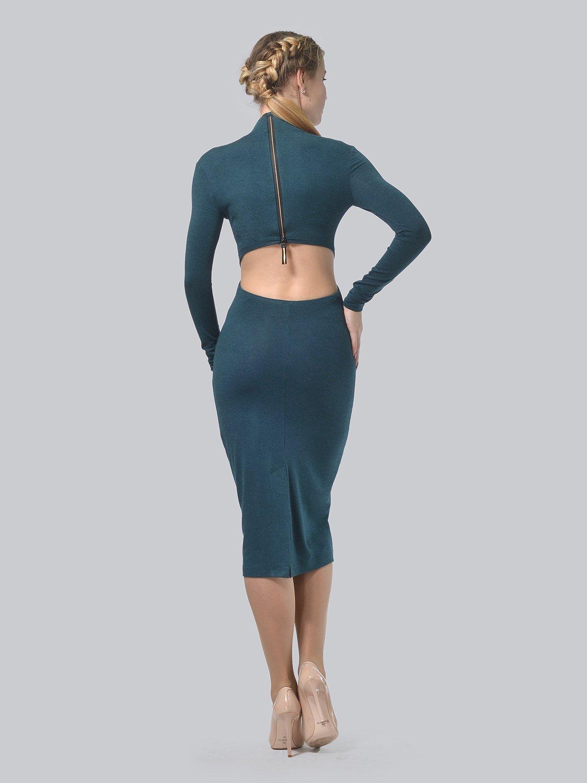 Платье темно-зеленое   3692902   фото 4