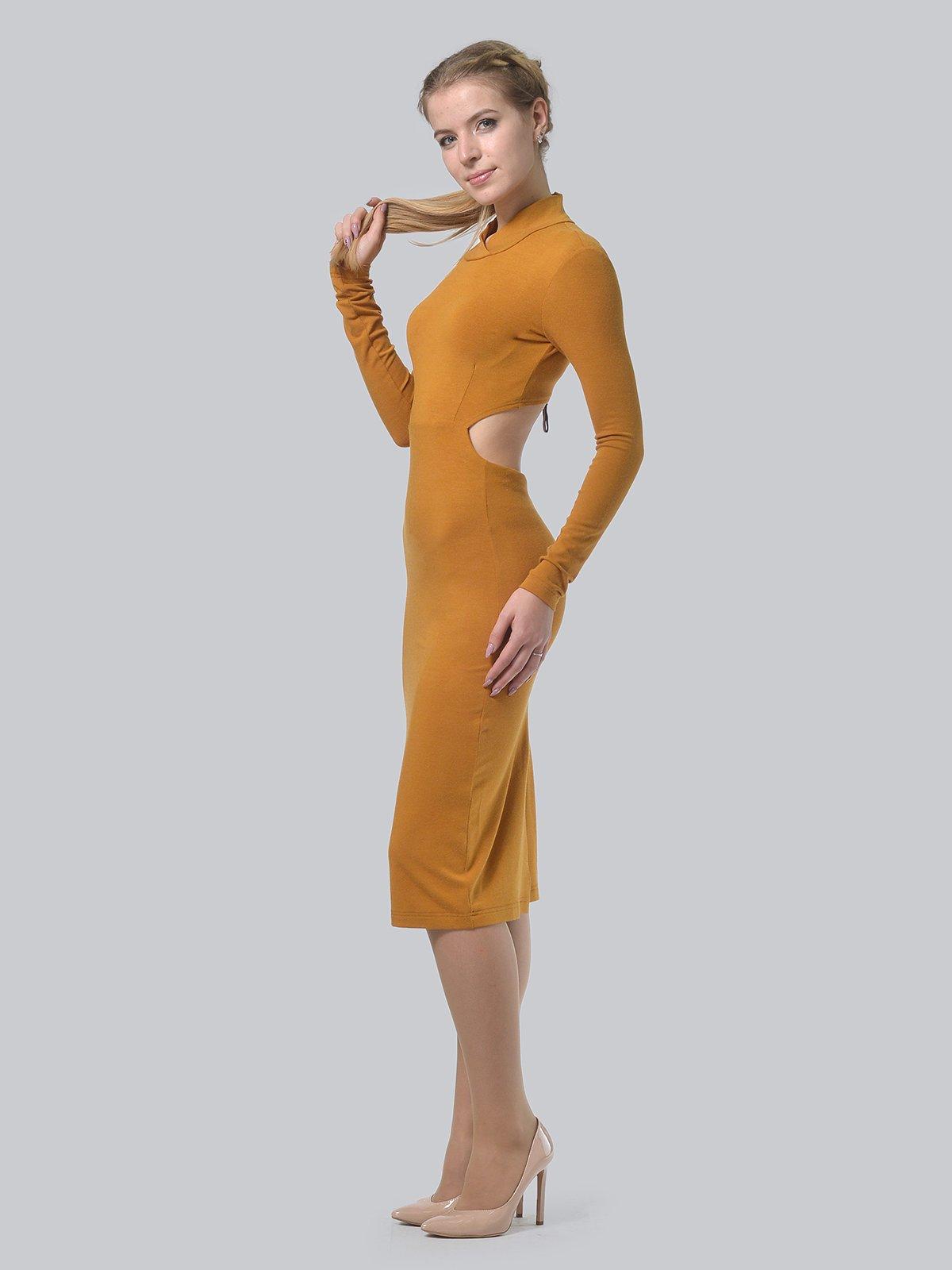 Платье горчичного цвета | 3692904