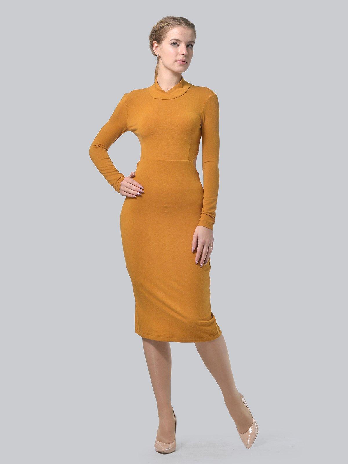 Платье горчичного цвета | 3692904 | фото 2