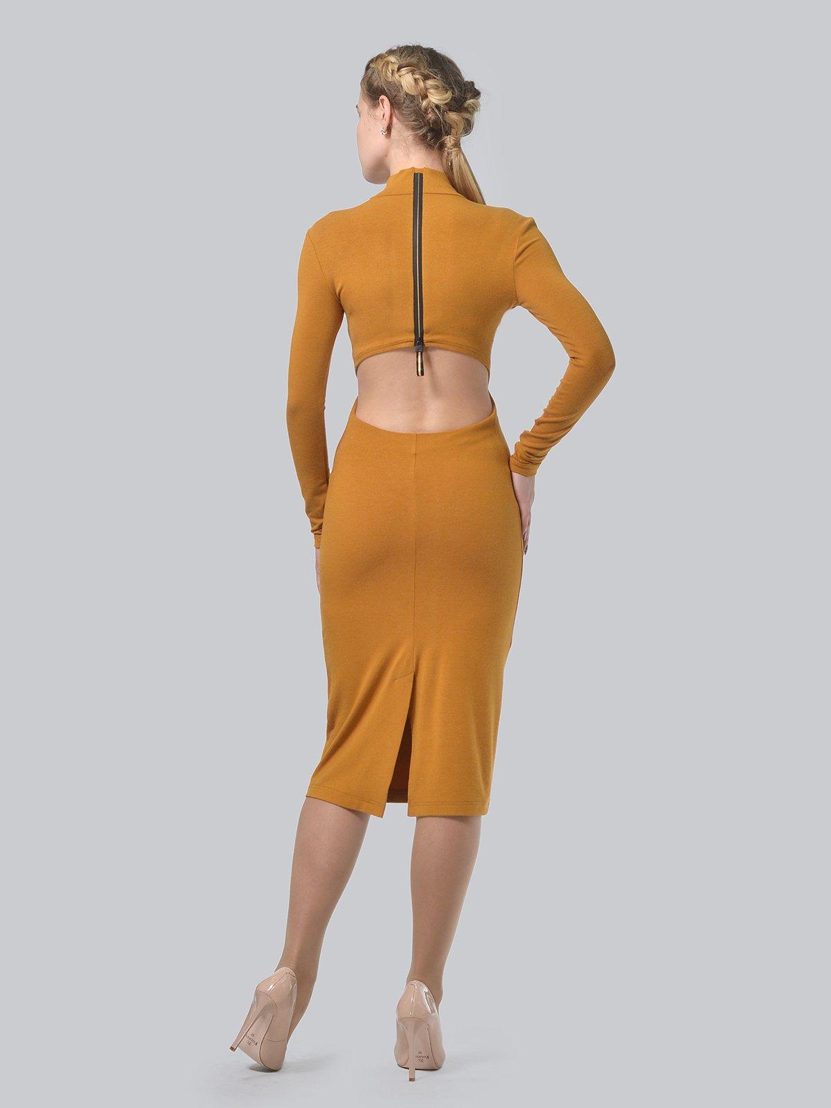Платье горчичного цвета | 3692904 | фото 3