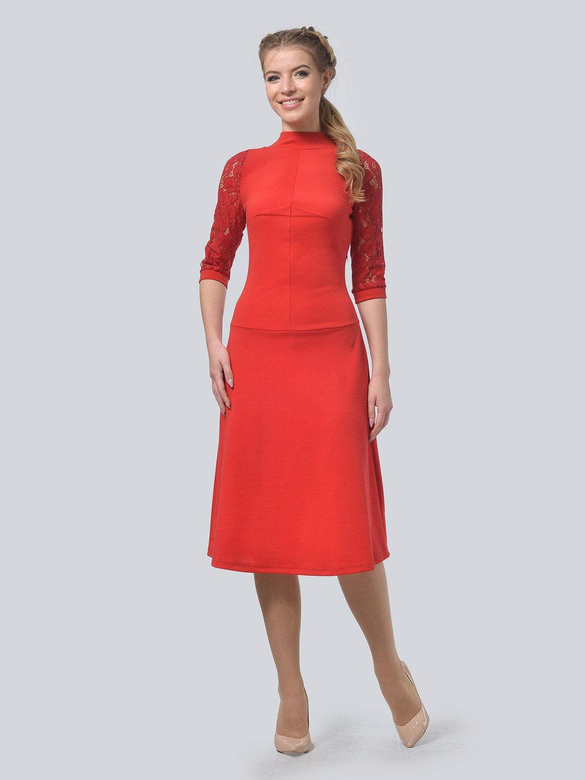 Платье красное | 3713366