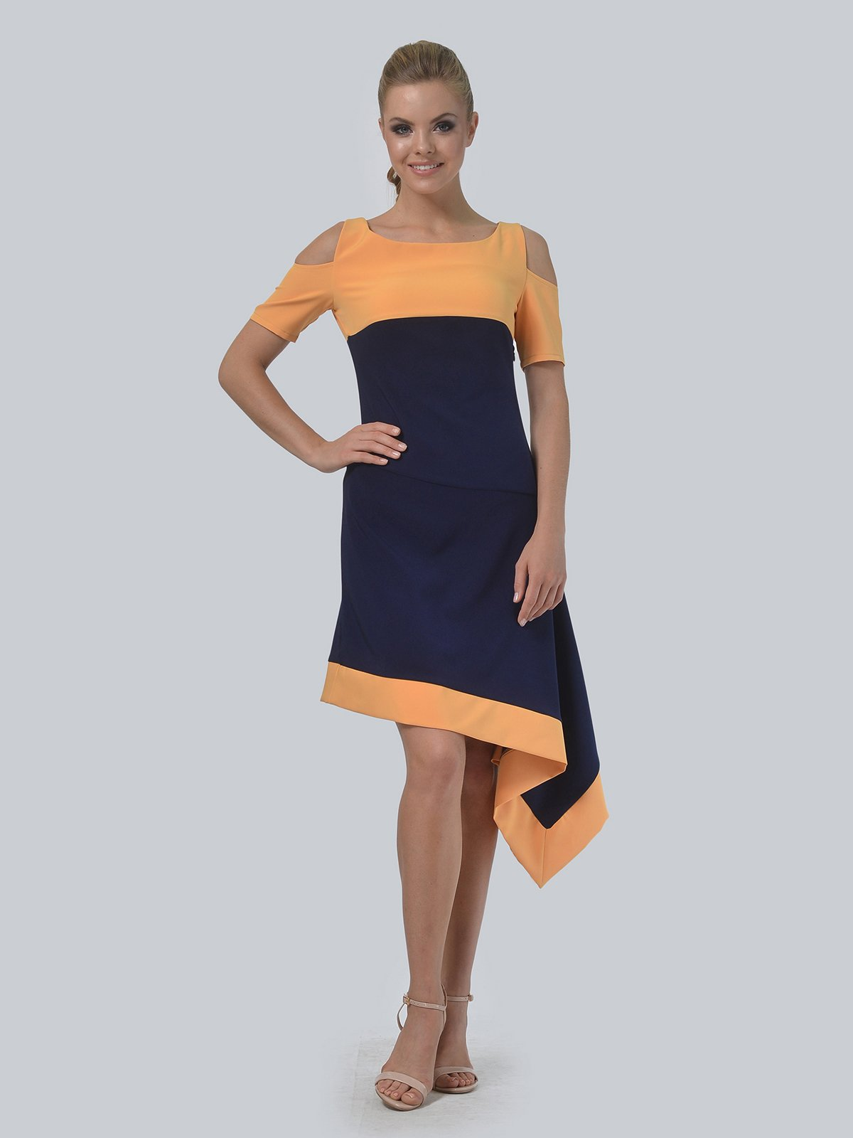Платье двухцветное | 3744448
