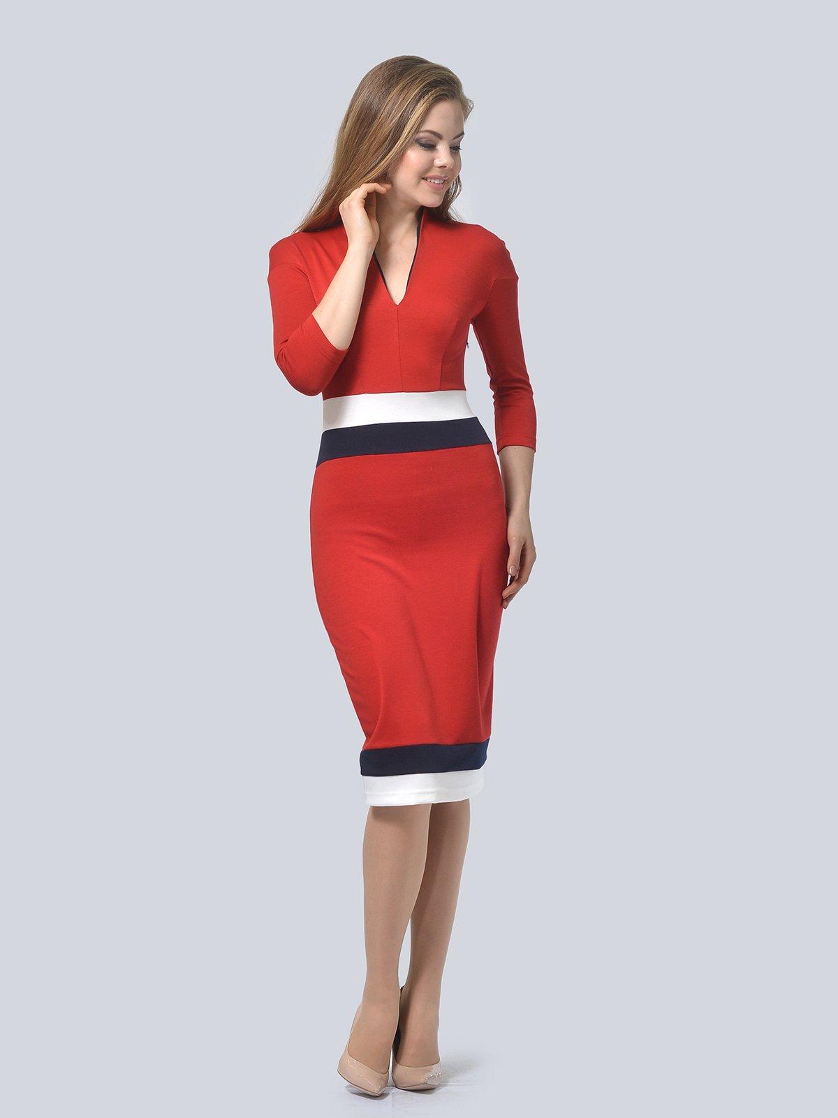 Платье красное | 3794601 | фото 2