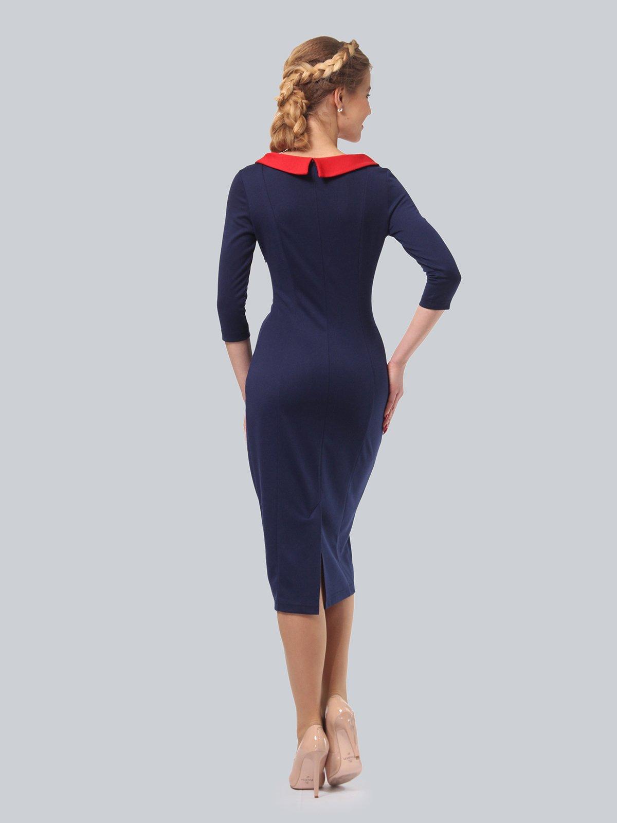 Платье синее с цветочным принтом   3840435   фото 3