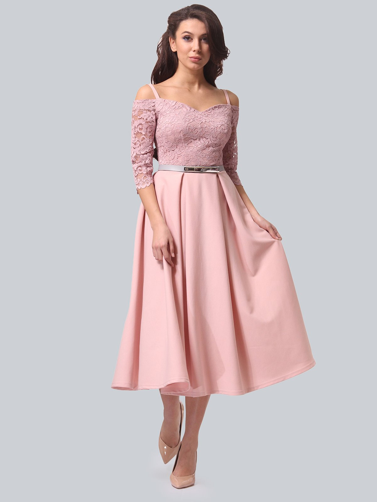 Платье розовое | 3851910