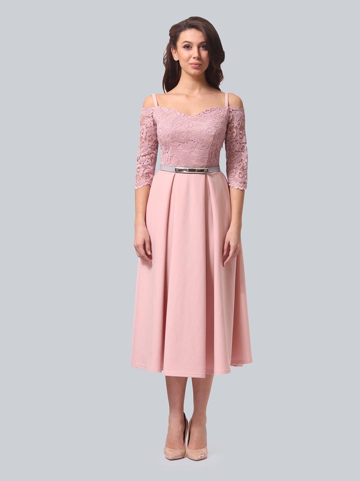 Платье розовое | 3851910 | фото 4