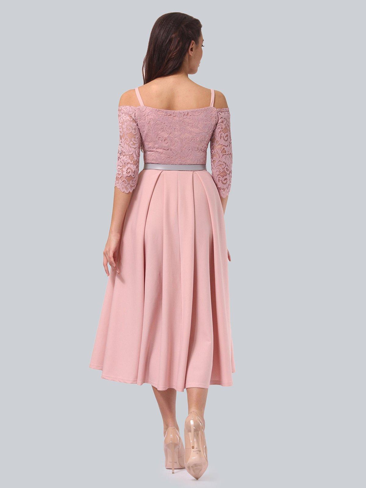 Платье розовое | 3851910 | фото 5