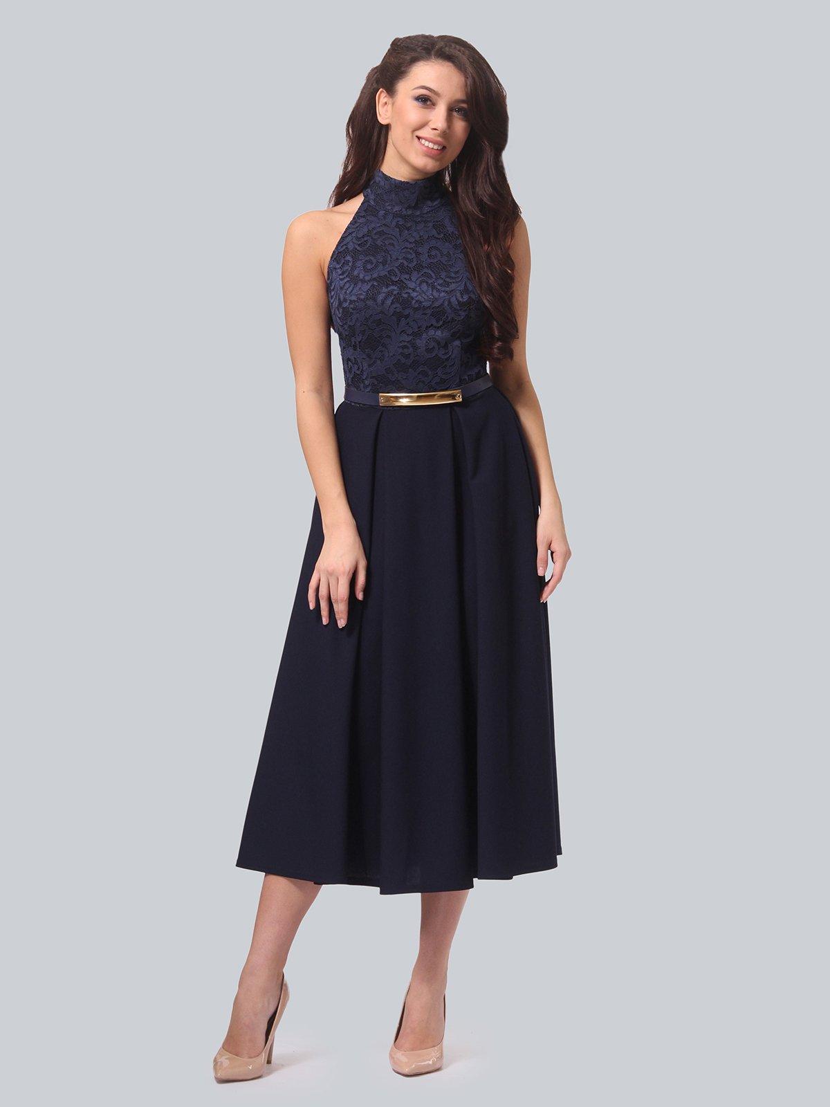 Платье темно-синее | 3851913