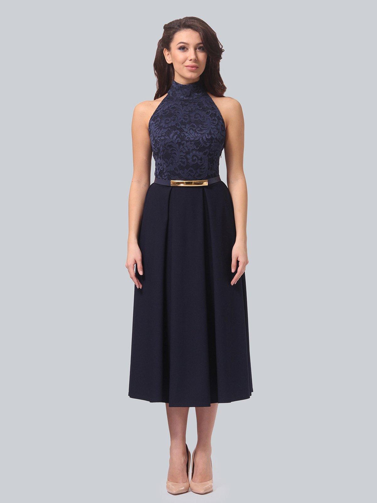 Платье темно-синее | 3851913 | фото 3