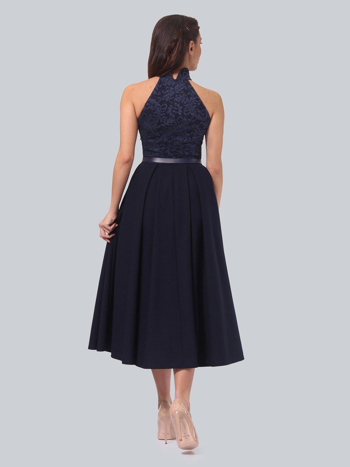 Платье темно-синее | 3851913 | фото 4