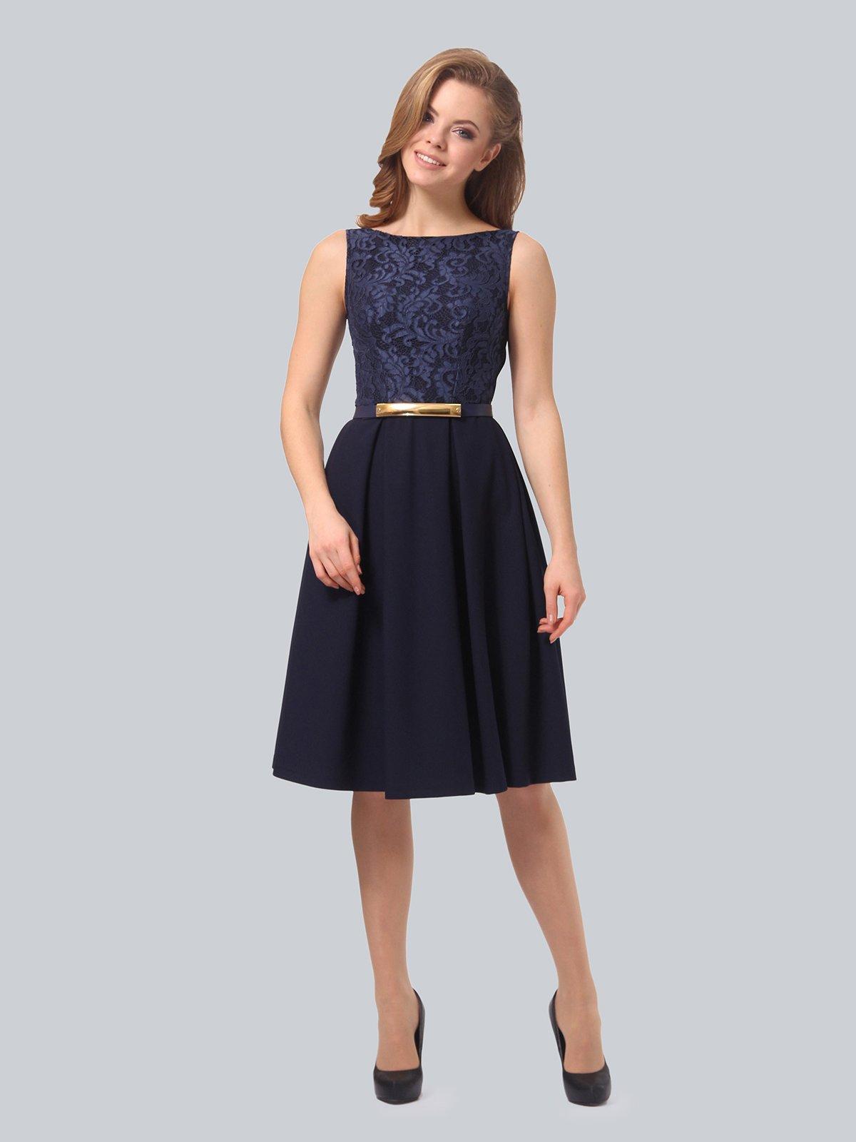 Платье темно-синее | 3863266