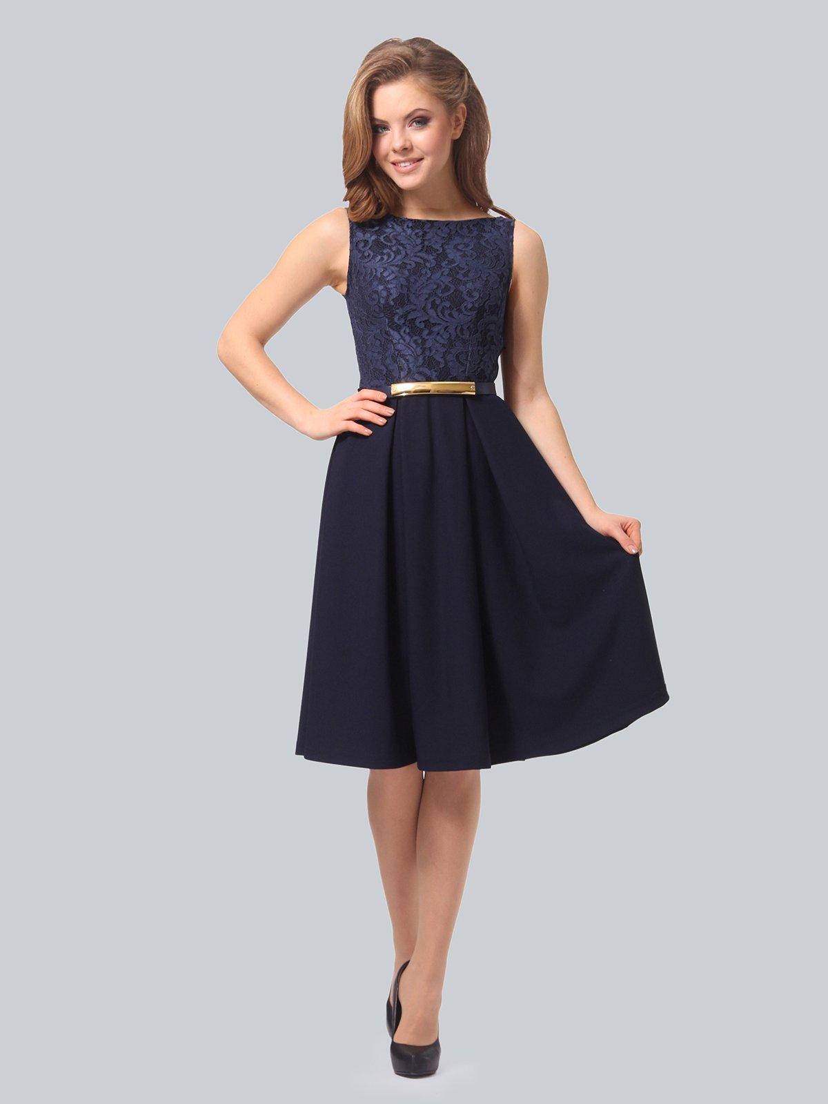 Платье темно-синее | 3863266 | фото 2