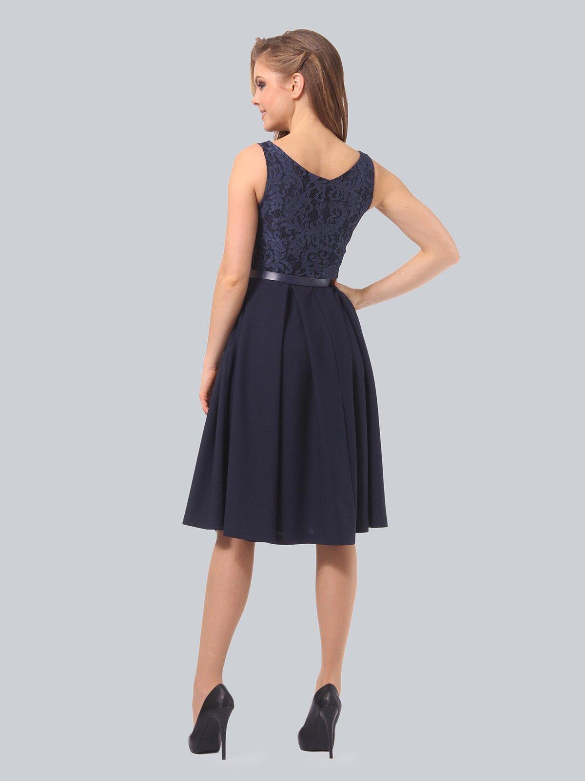 Платье темно-синее | 3863266 | фото 4
