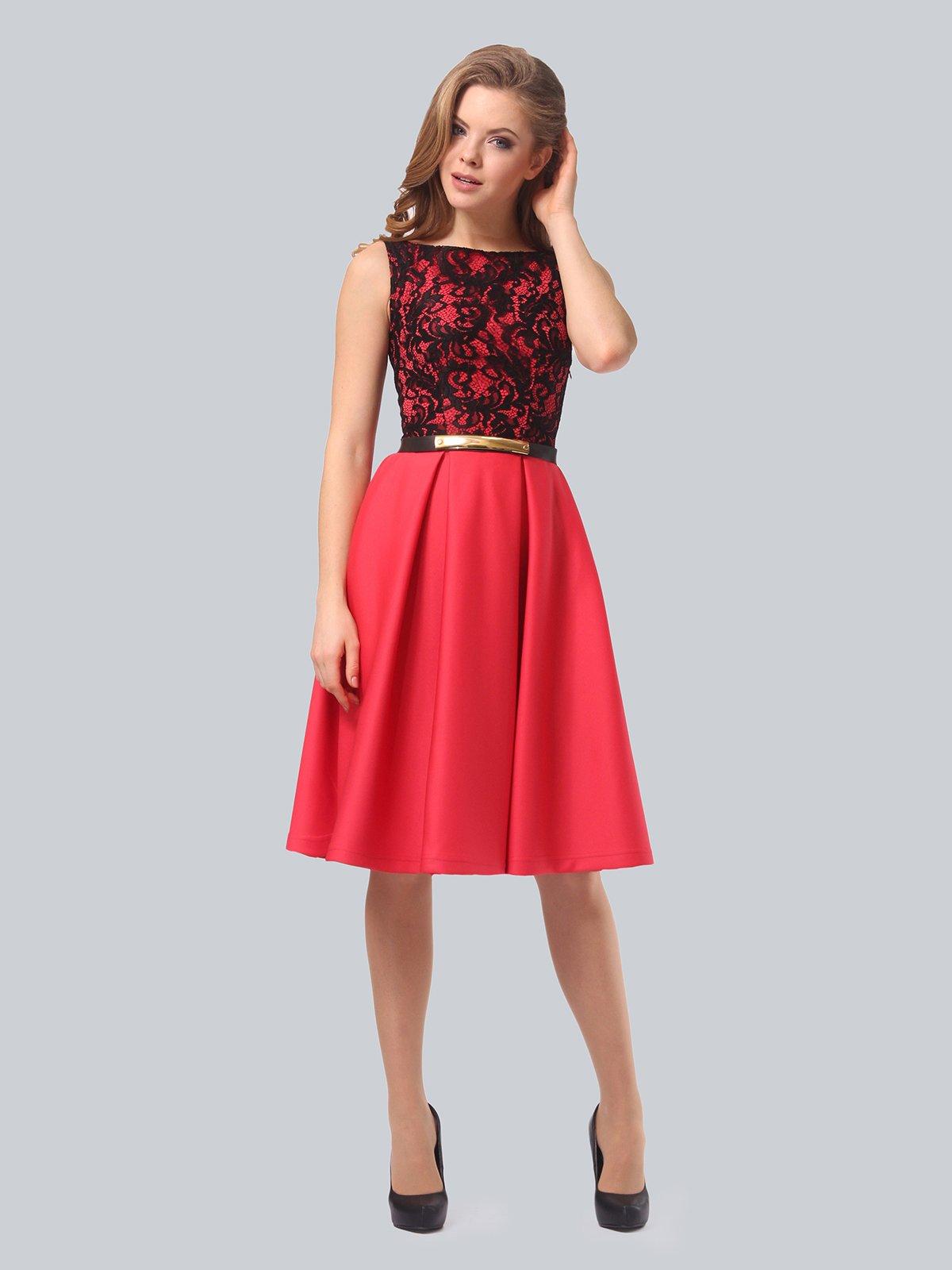 Платье кораллово-черное   3863268   фото 2
