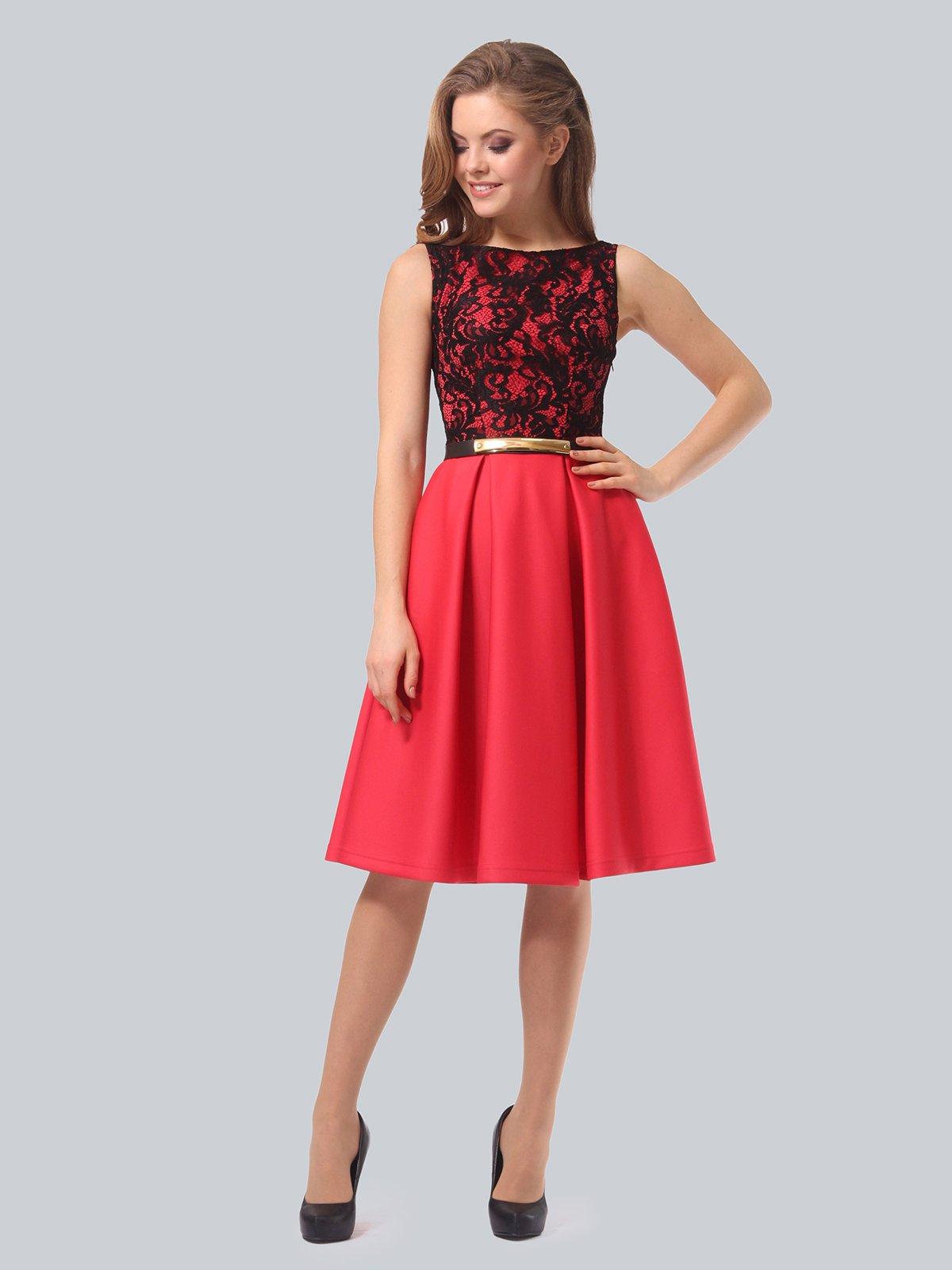 Платье кораллово-черное   3863268   фото 3
