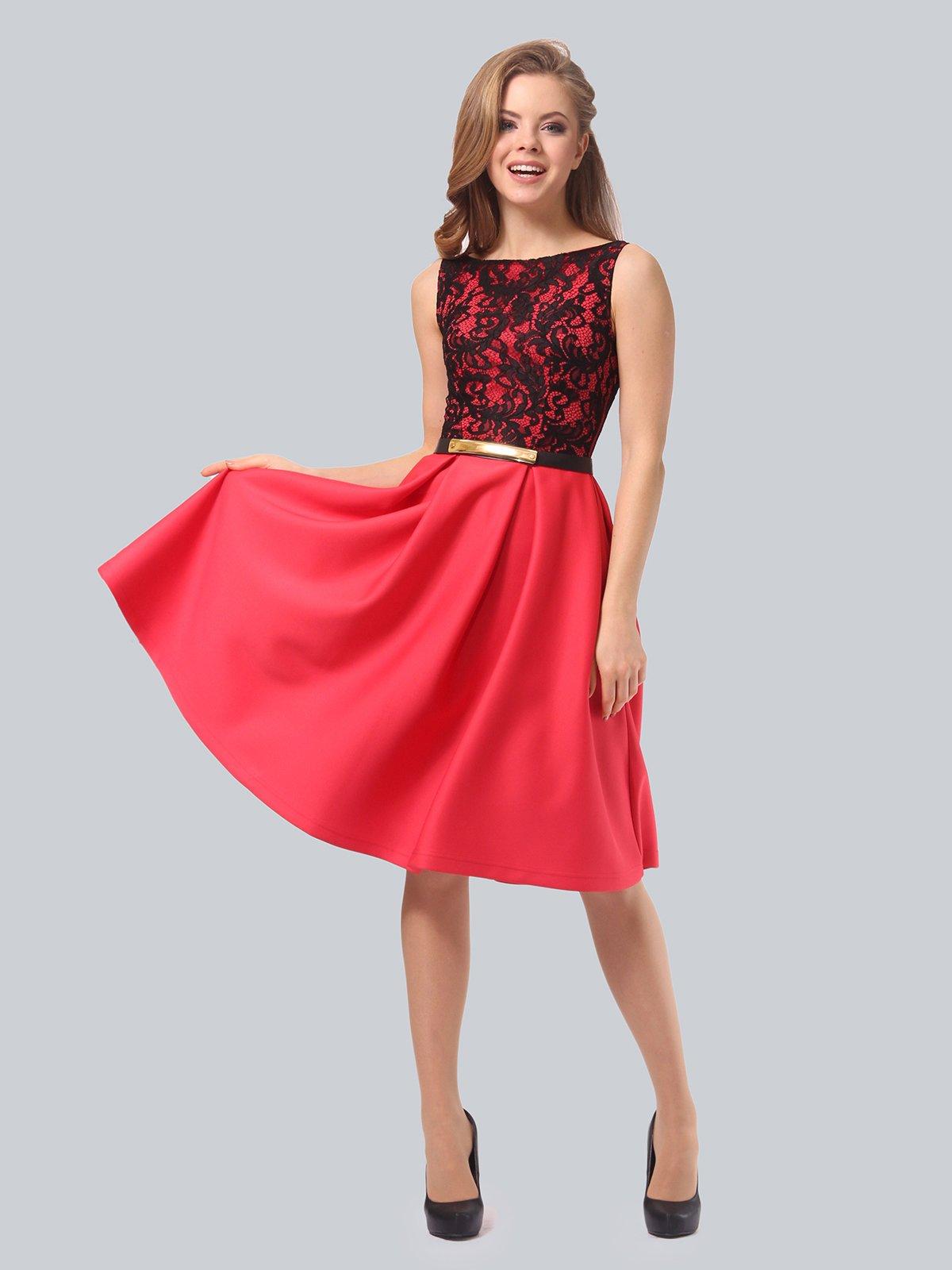 Платье кораллово-черное   3863268   фото 4