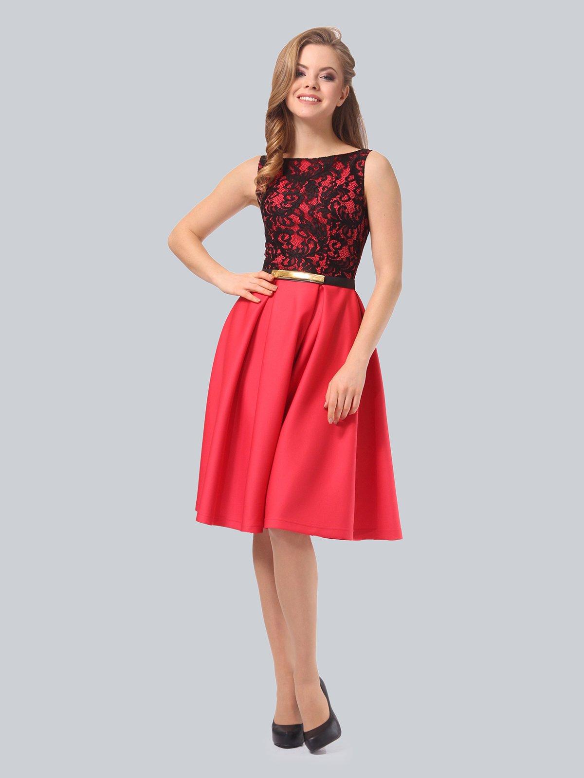 Платье кораллово-черное   3863268   фото 6