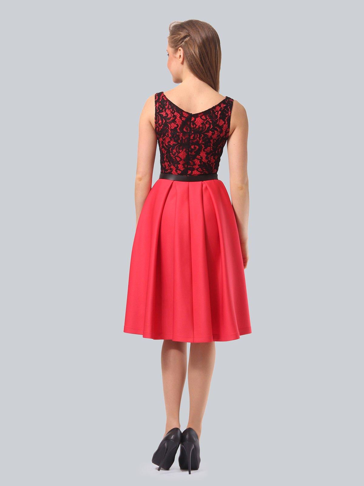 Платье кораллово-черное   3863268   фото 7