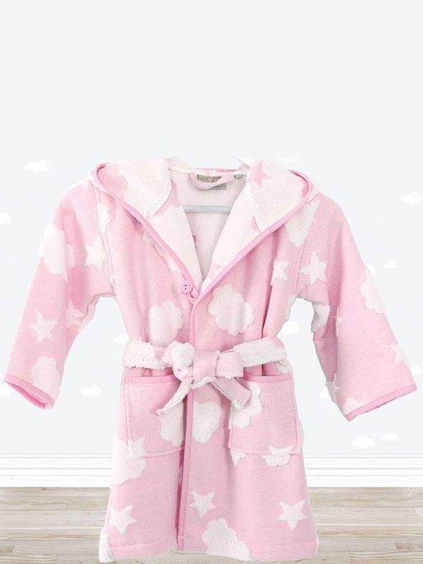 Халат розовый в принт | 3865792