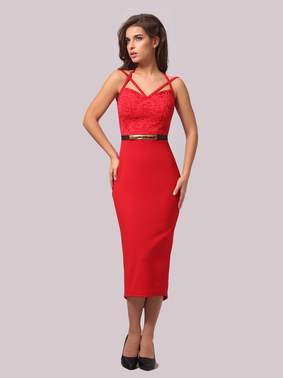 Платье красное | 3863238