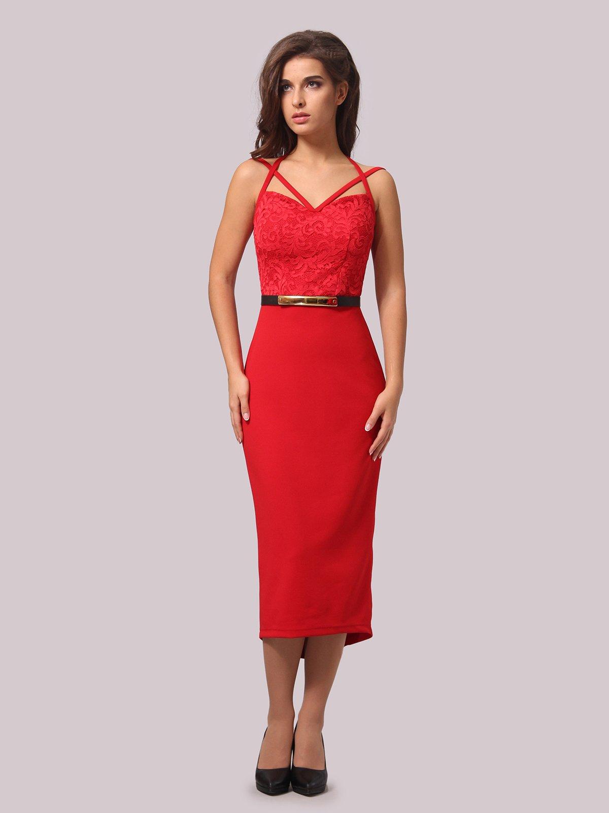 Платье красное | 3863238 | фото 2