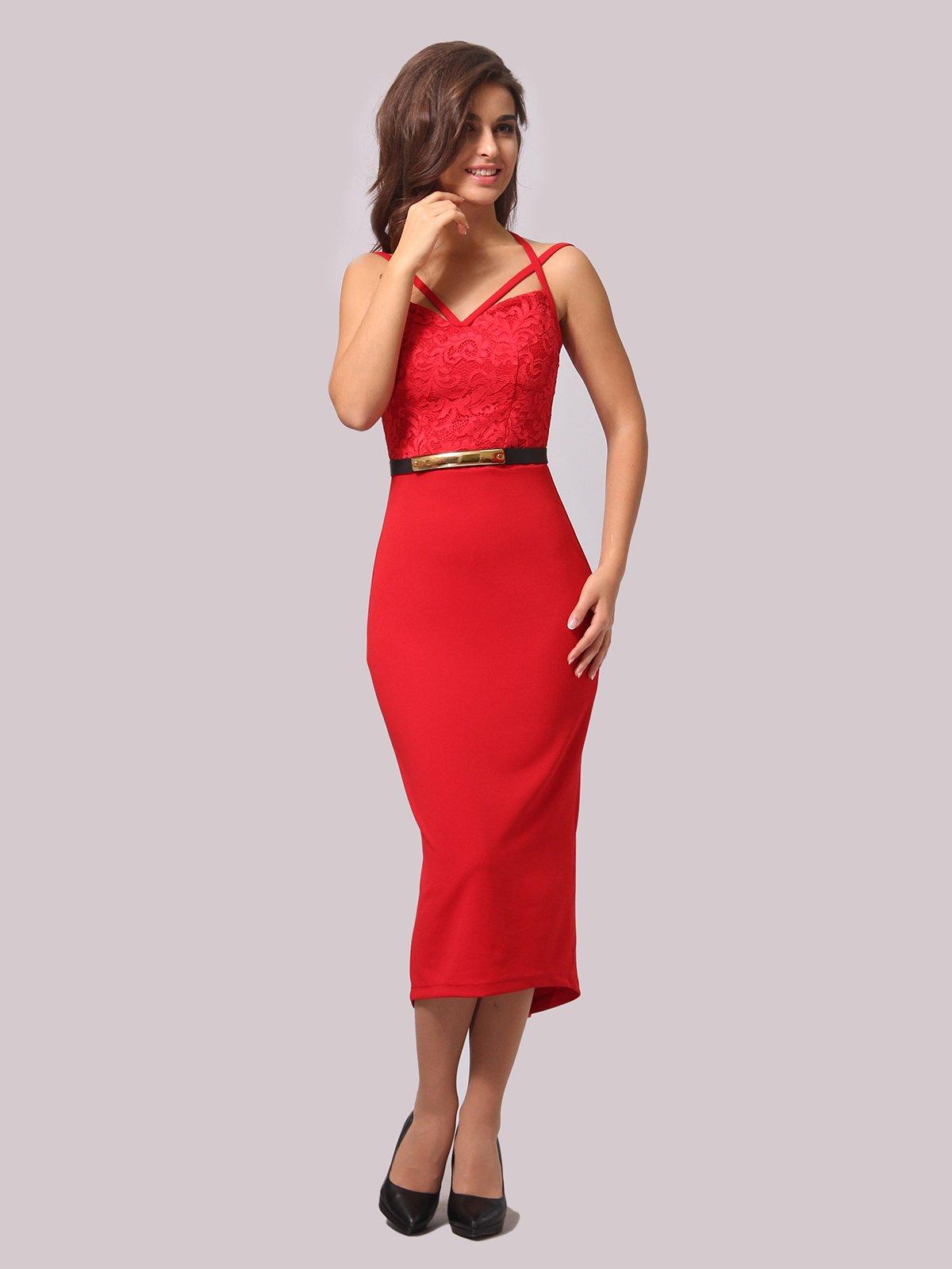 Платье красное | 3863238 | фото 3