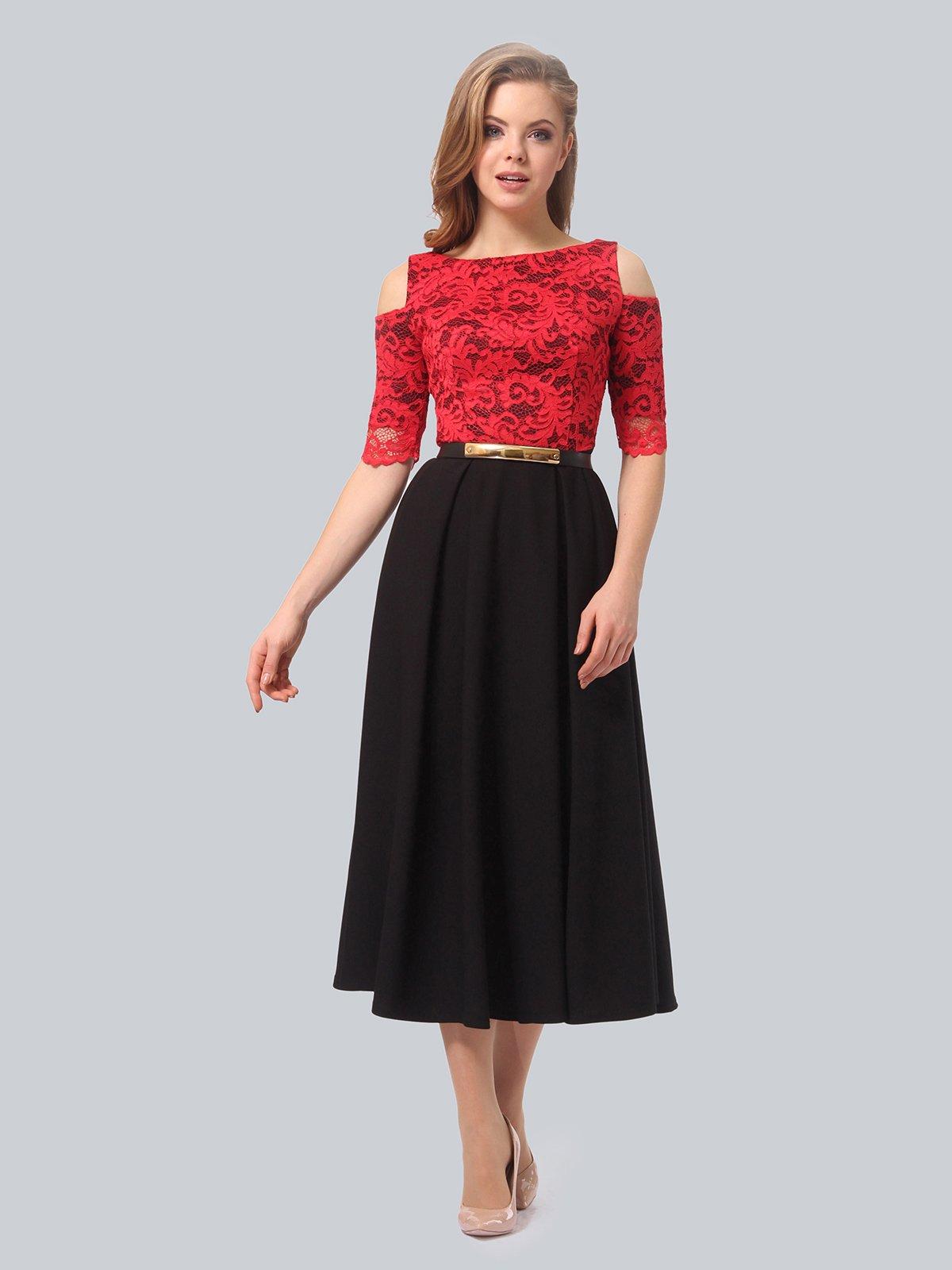 Платье черно-красное | 3863243 | фото 2