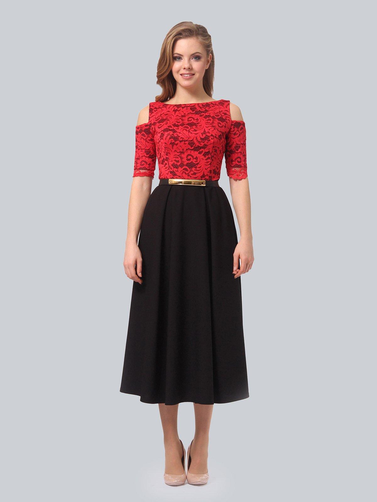 Платье черно-красное | 3863243 | фото 4