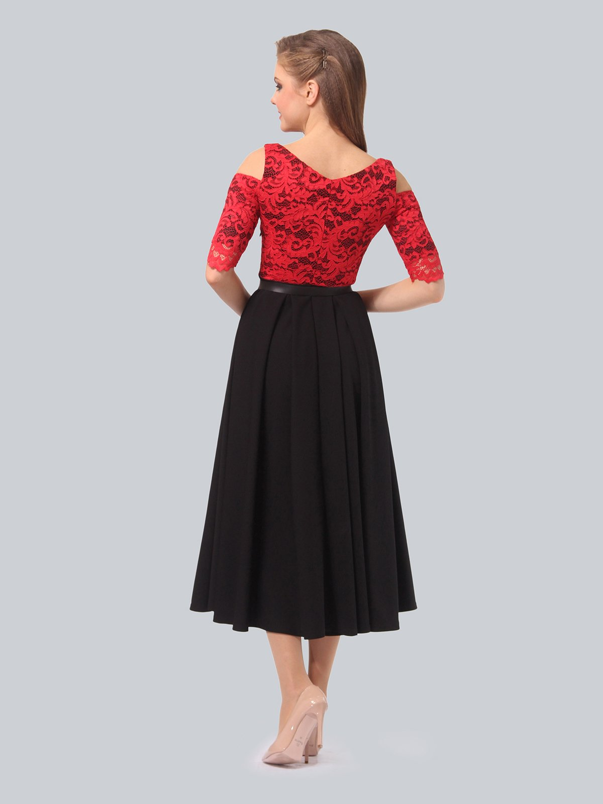 Платье черно-красное | 3863243 | фото 5