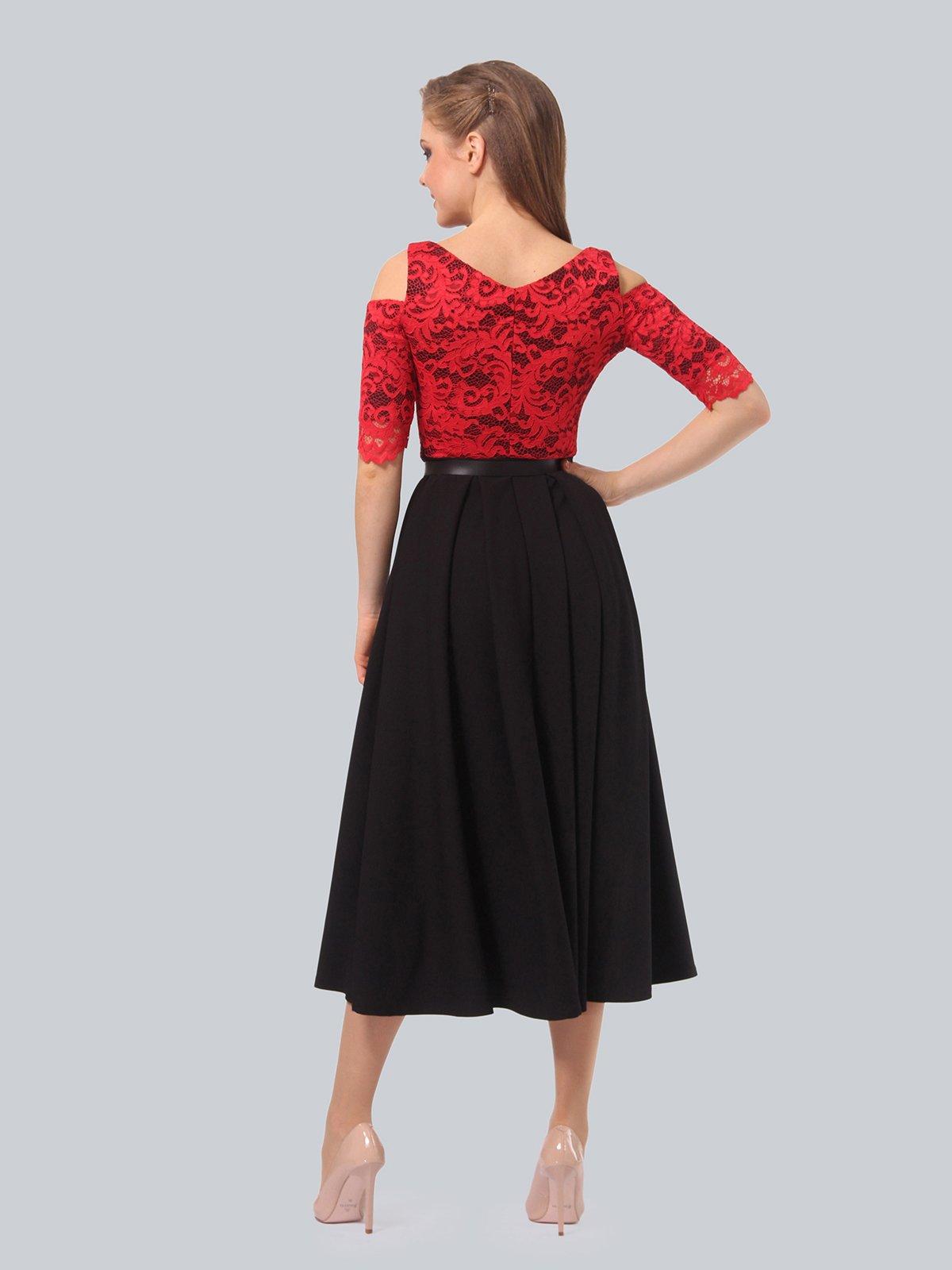 Платье черно-красное | 3863243 | фото 6