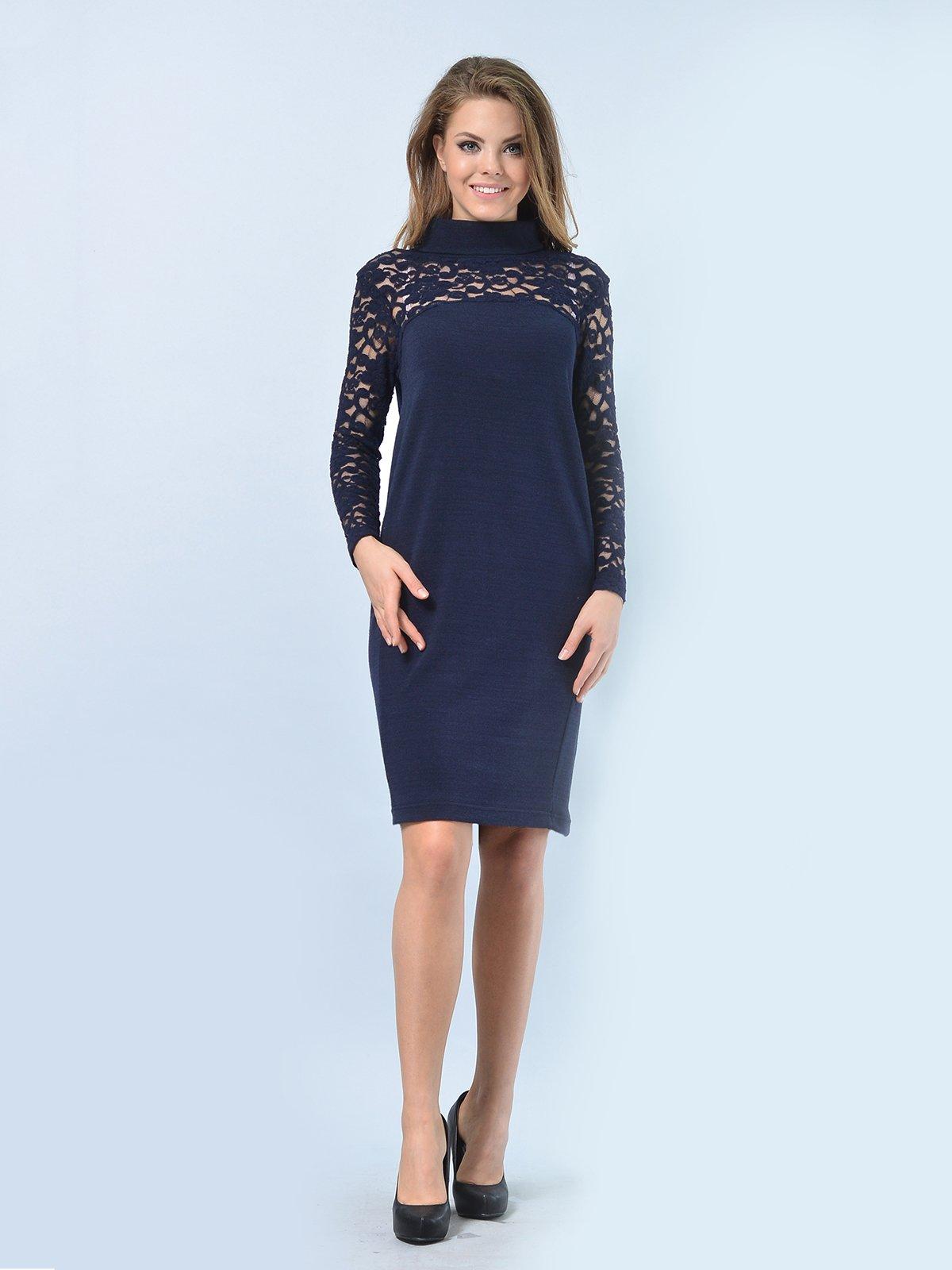 Платье темно-синее | 3724290