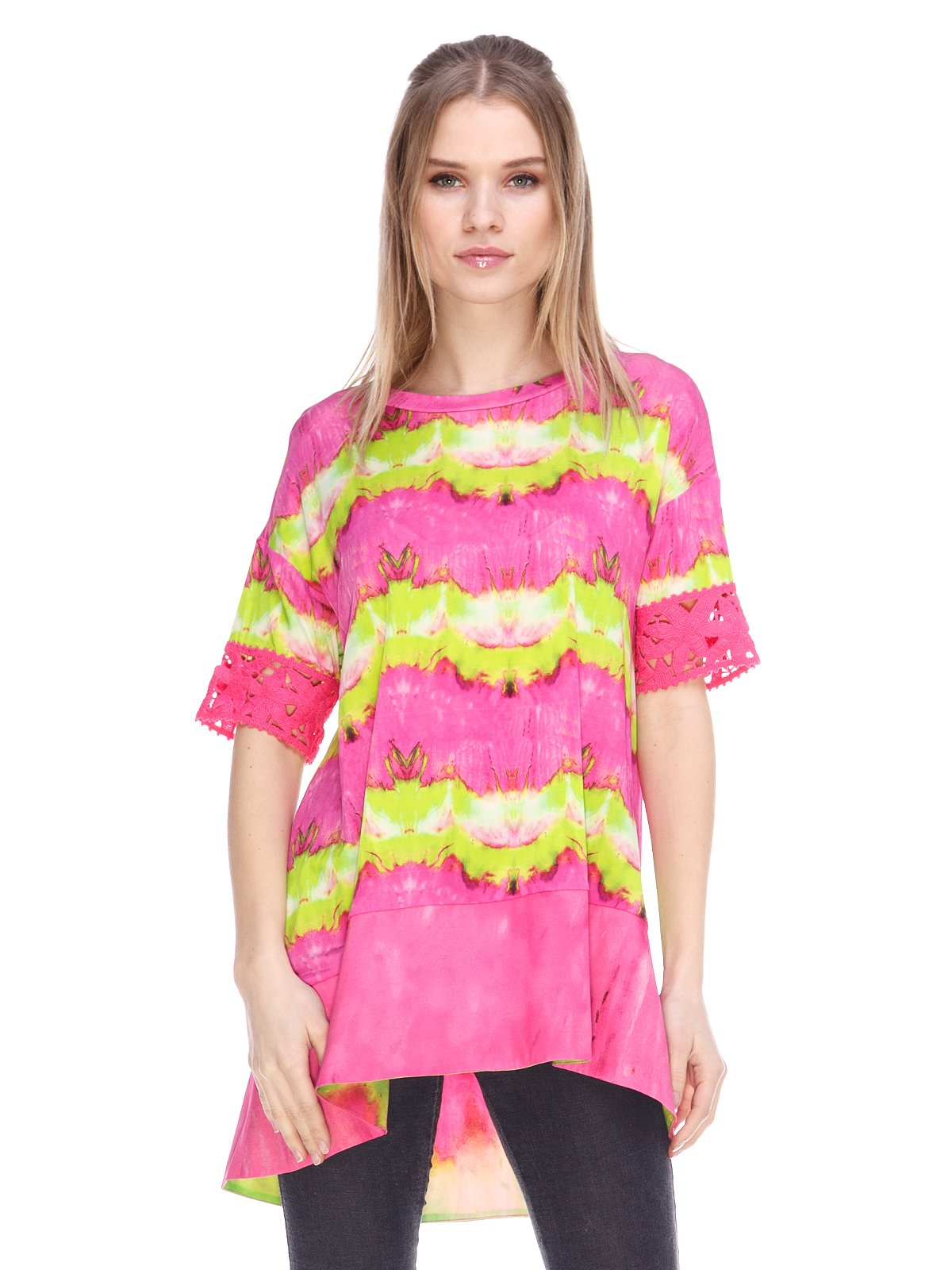 Туніка рожево-салатова | 3858905
