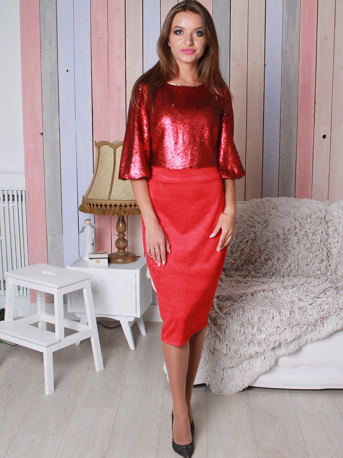 Платье красное | 3870509