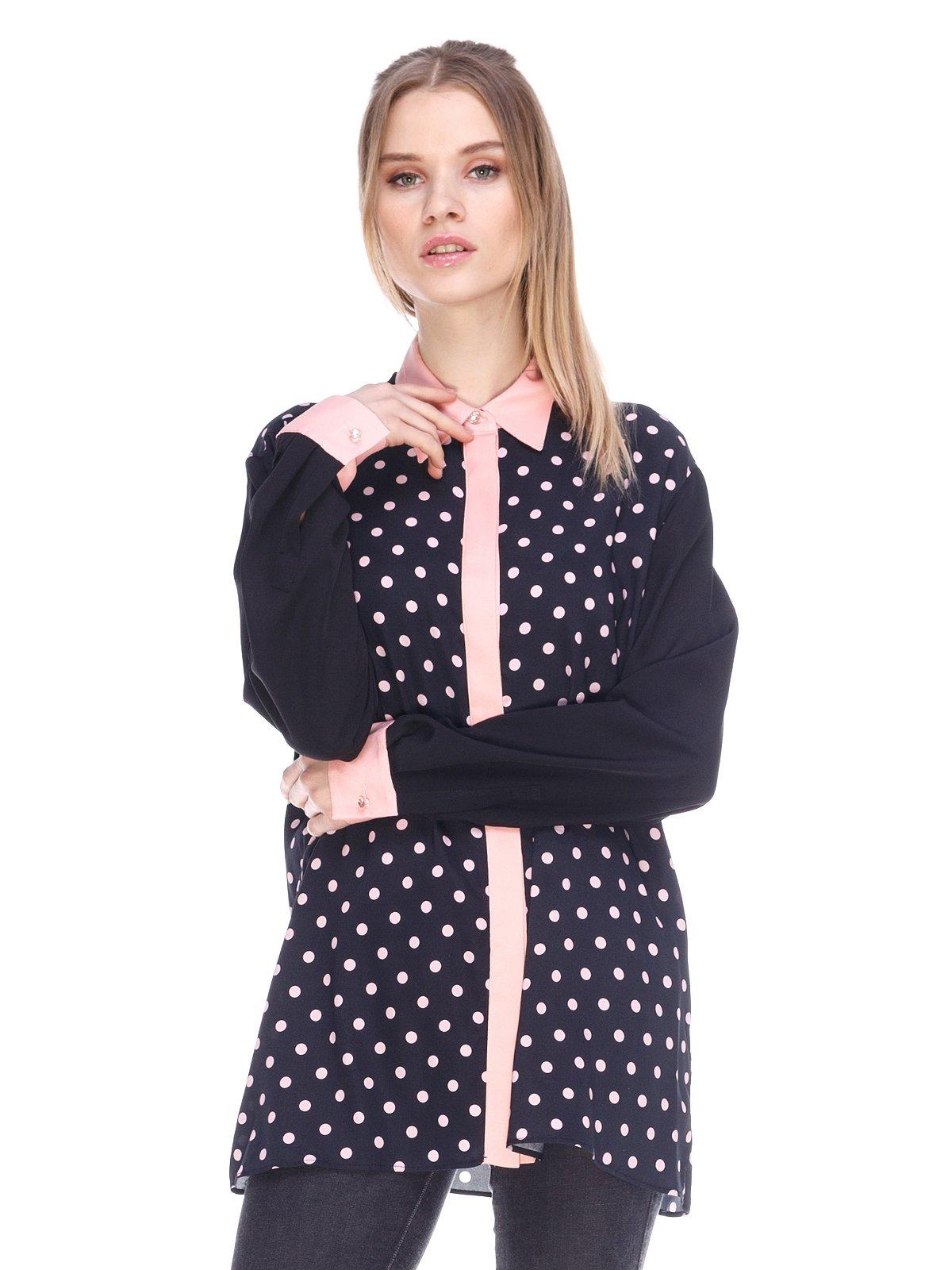 Блуза чорна в горошок | 3858882