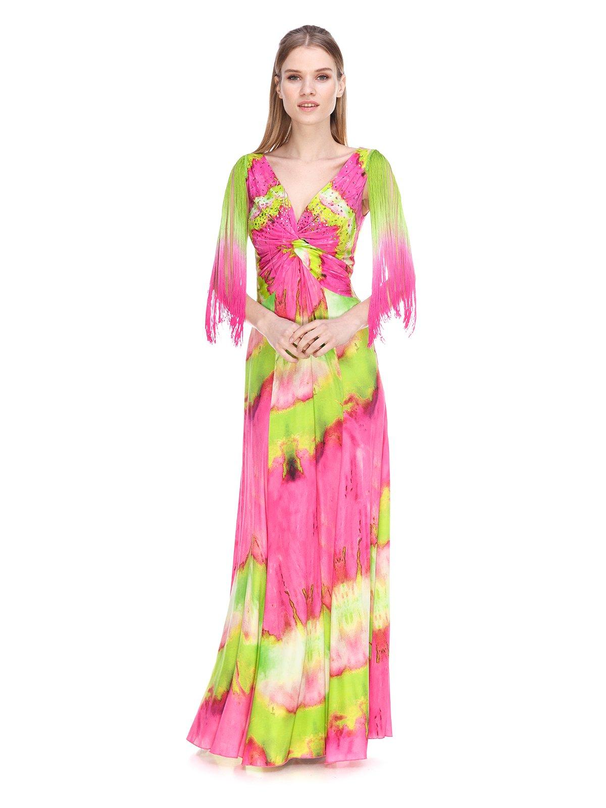 Сукня рожево-салатова   3858948