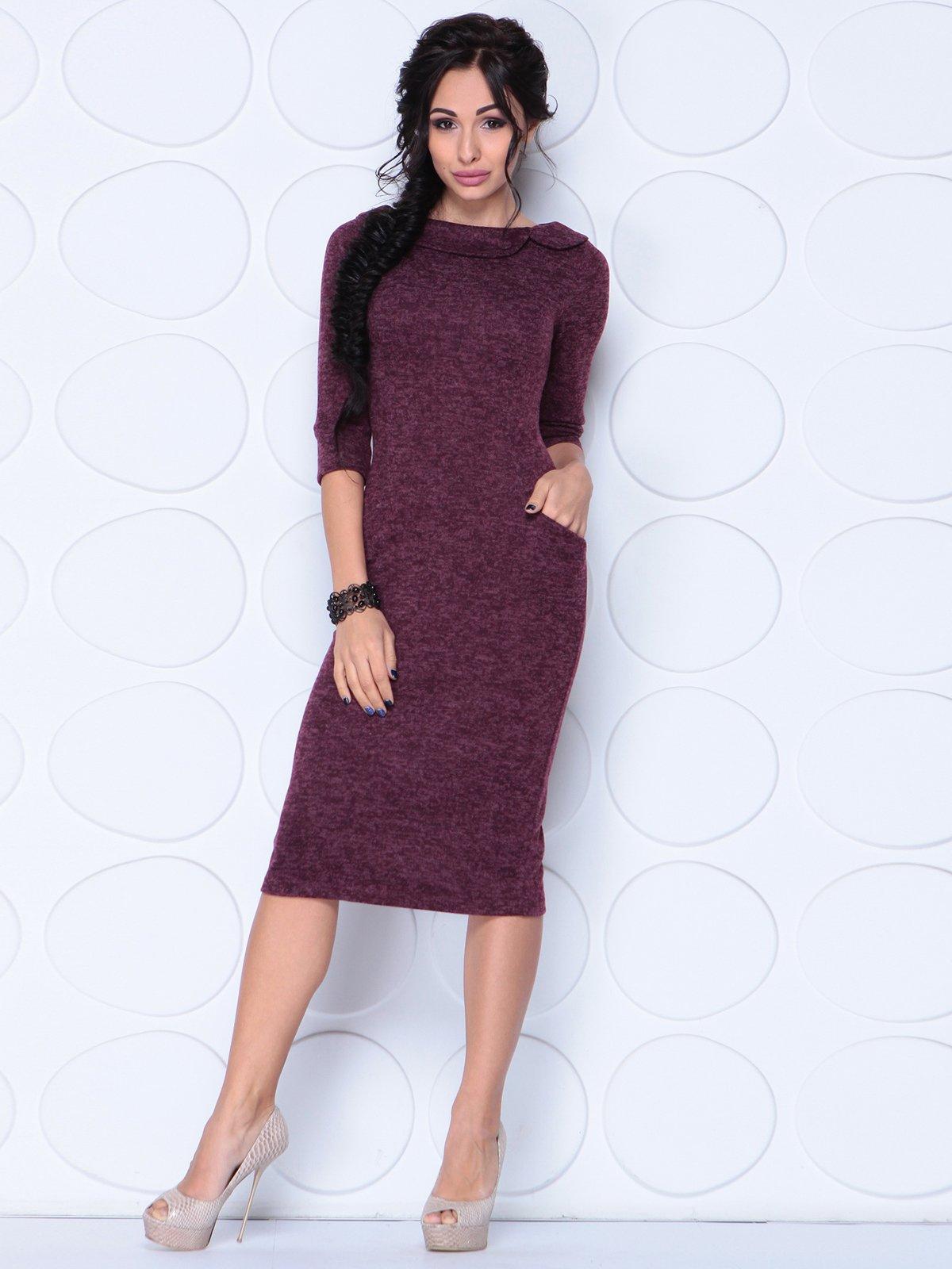 Сукня кольору марсала | 3876117