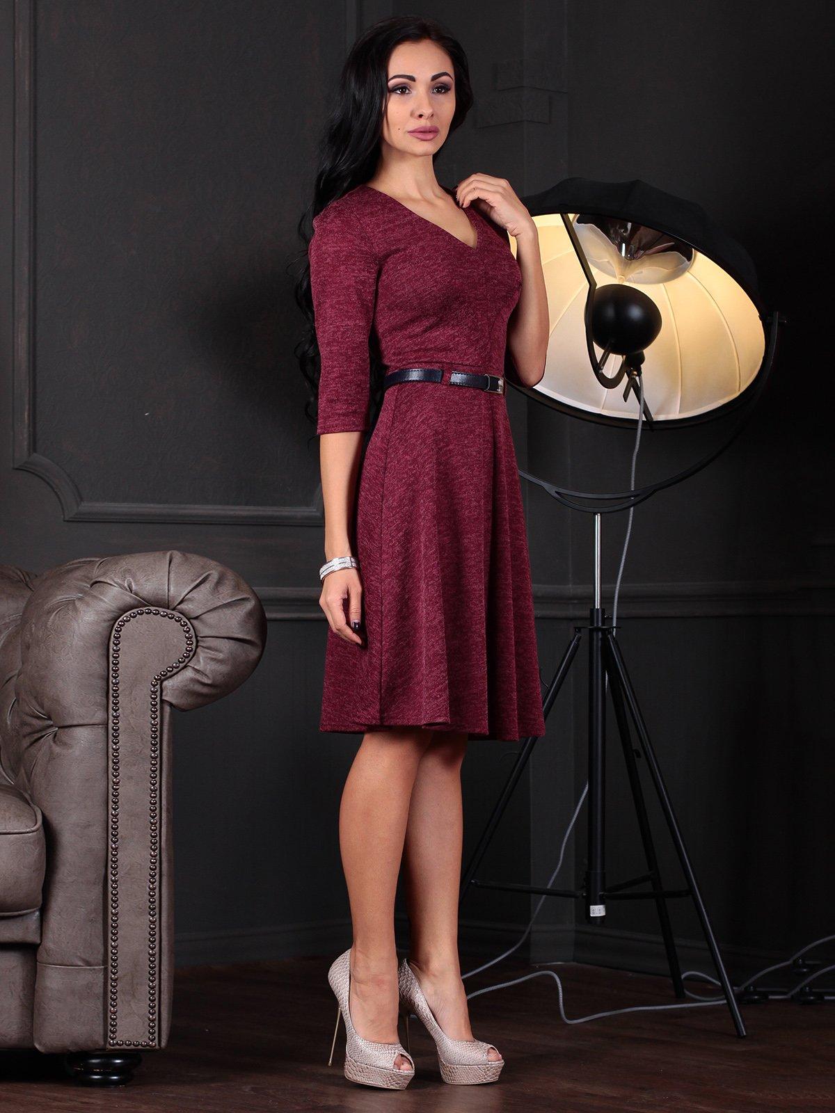 Платье бордовое   3876132