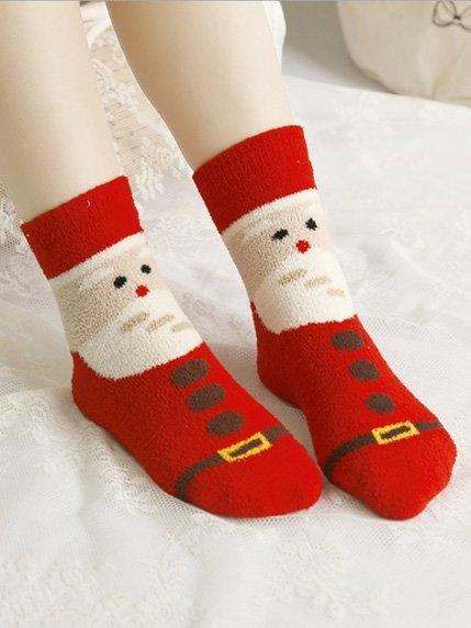 Шкарпетки червоні з принтом | 3876575