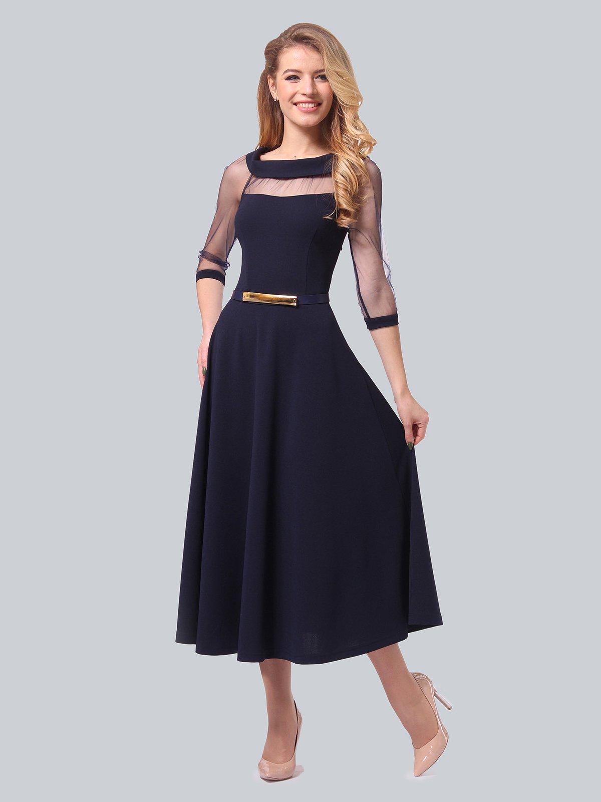 Платье темно-синее | 3879718