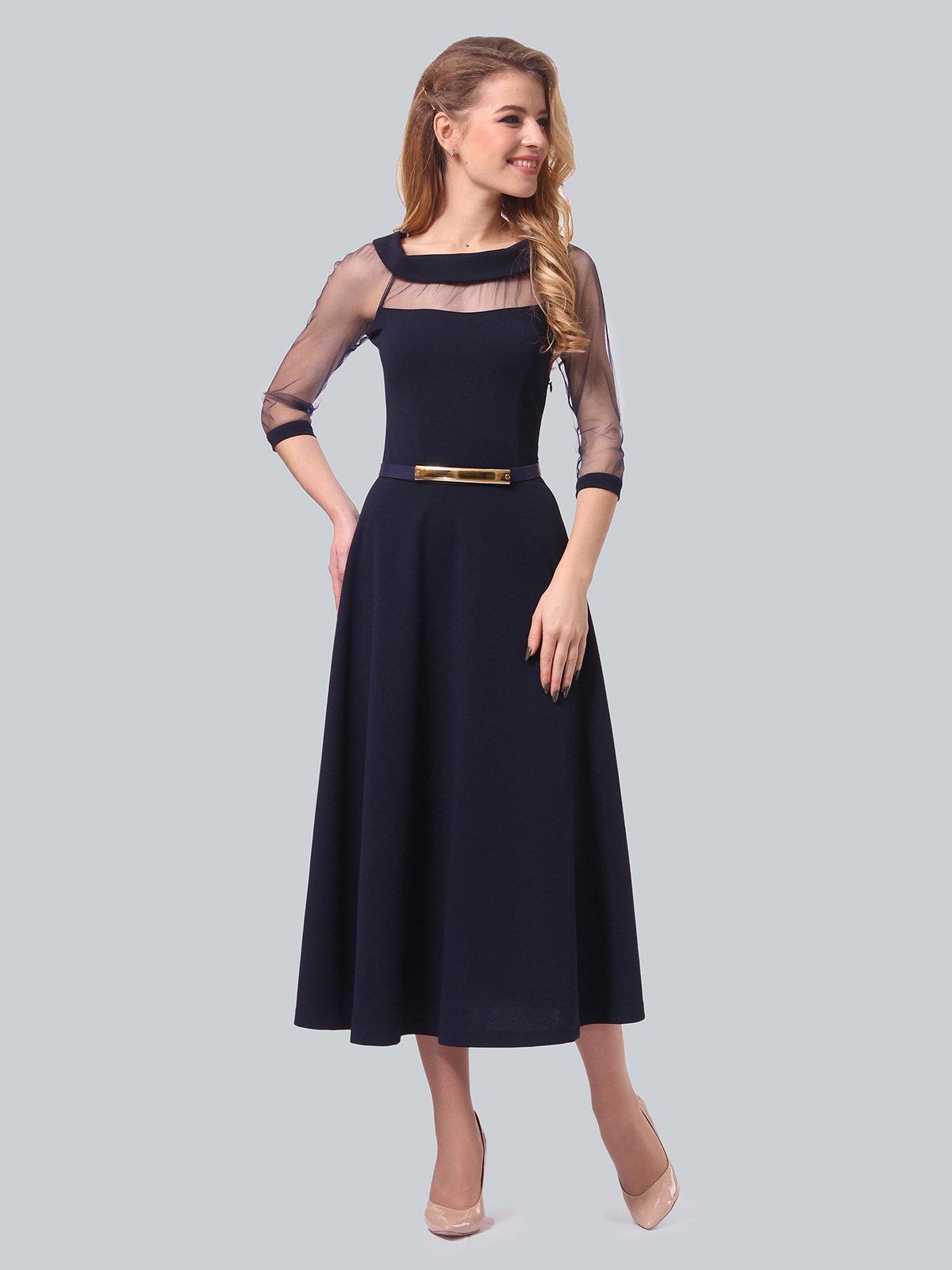 Платье темно-синее | 3879718 | фото 2