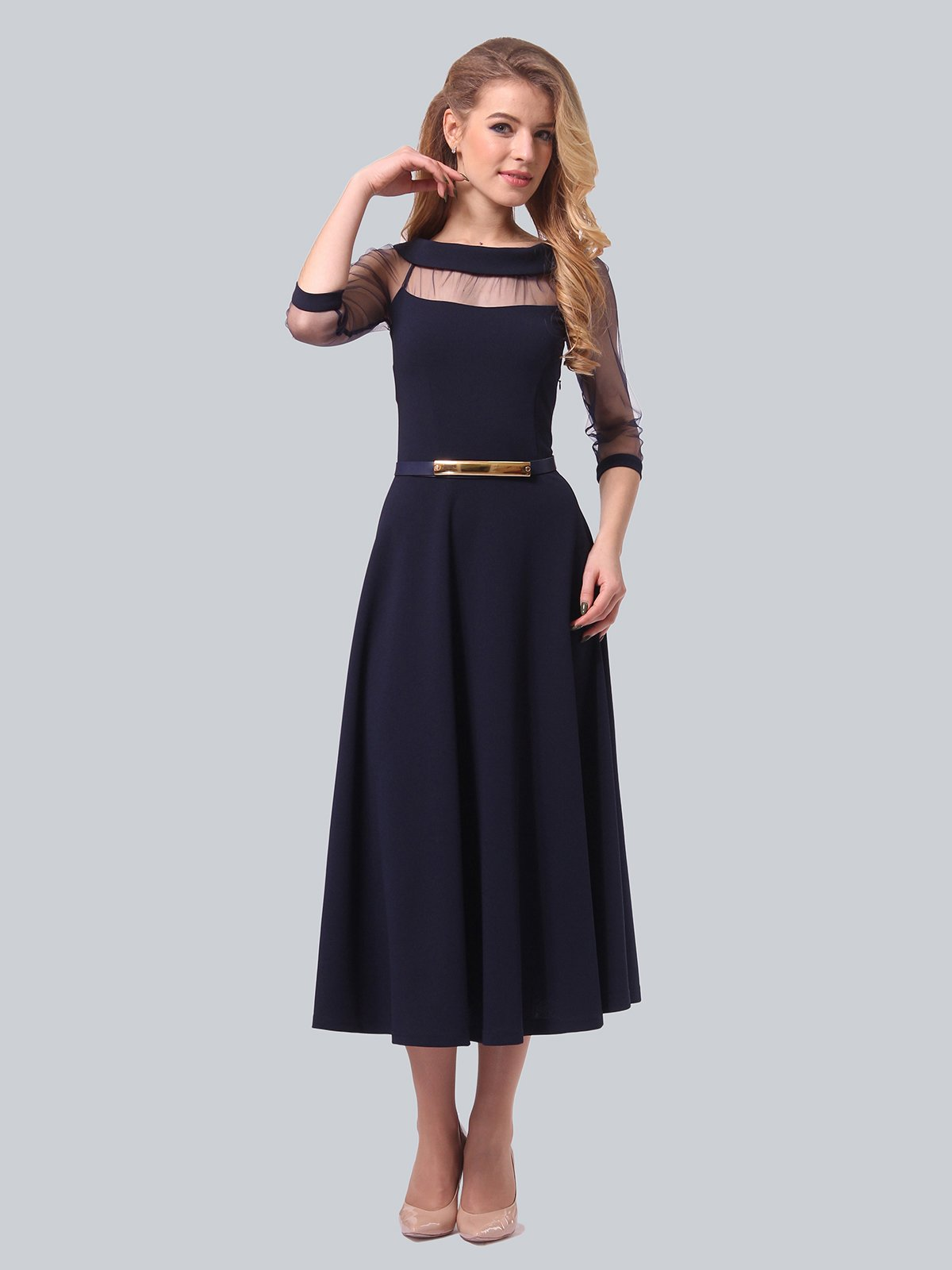 Платье темно-синее | 3879718 | фото 3