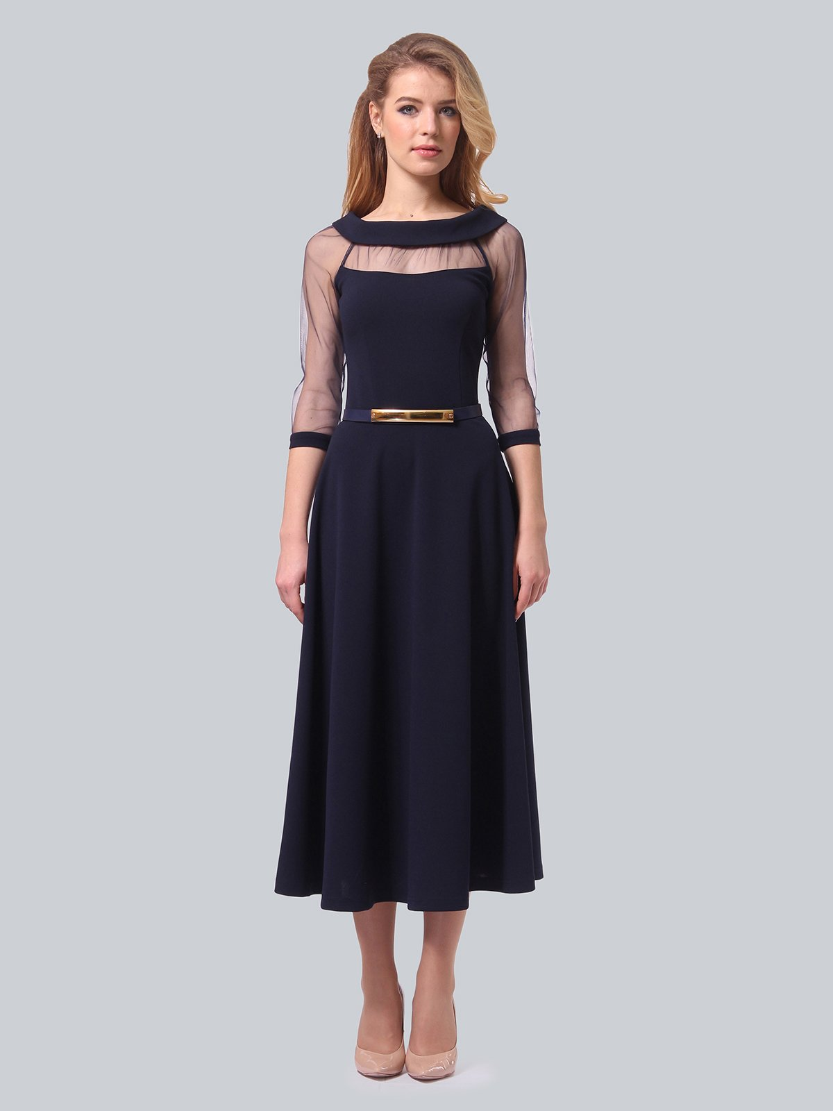 Платье темно-синее | 3879718 | фото 4