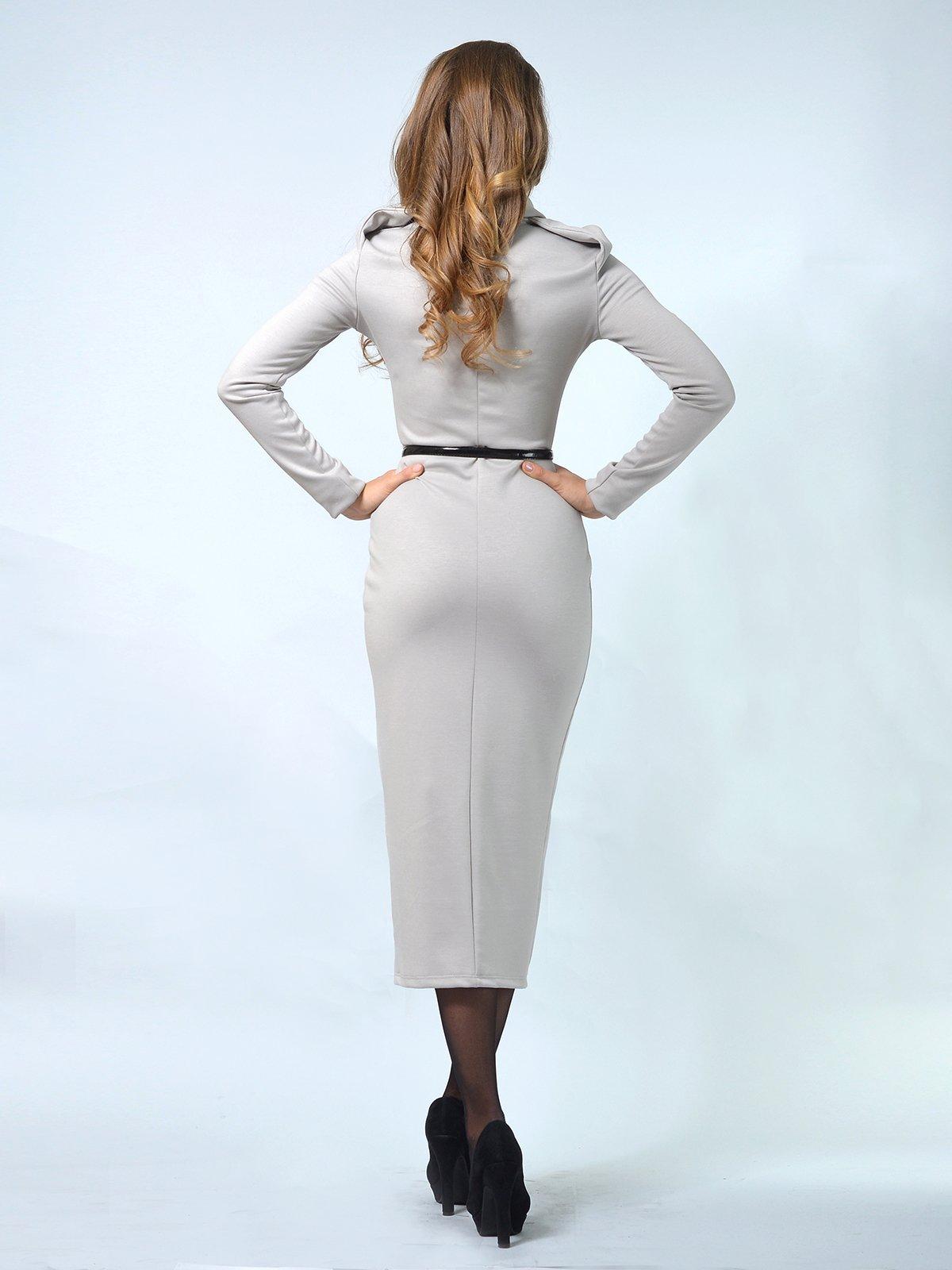 Платье серое | 3736058 | фото 2