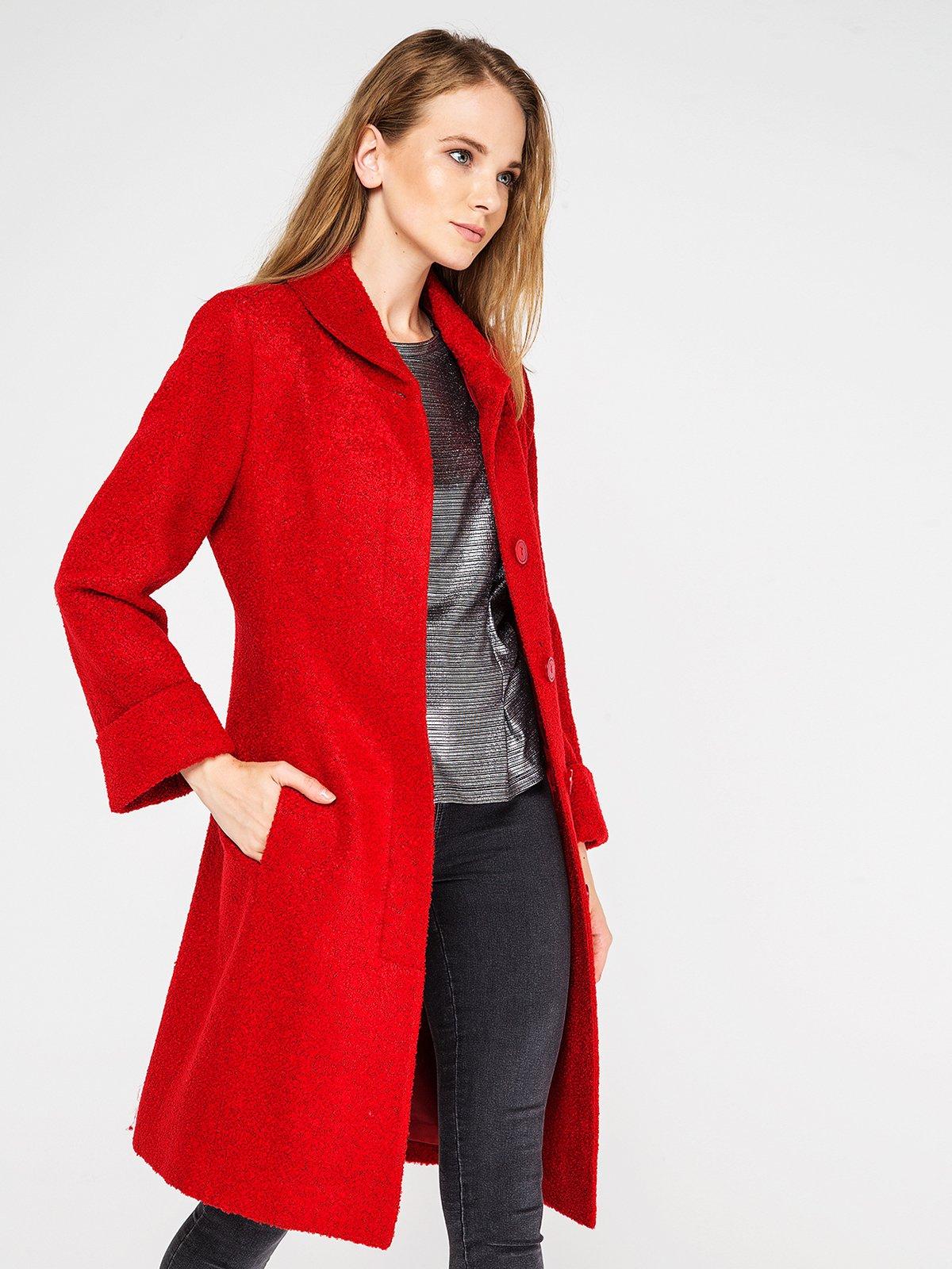 Пальто красное | 3606580 | фото 2