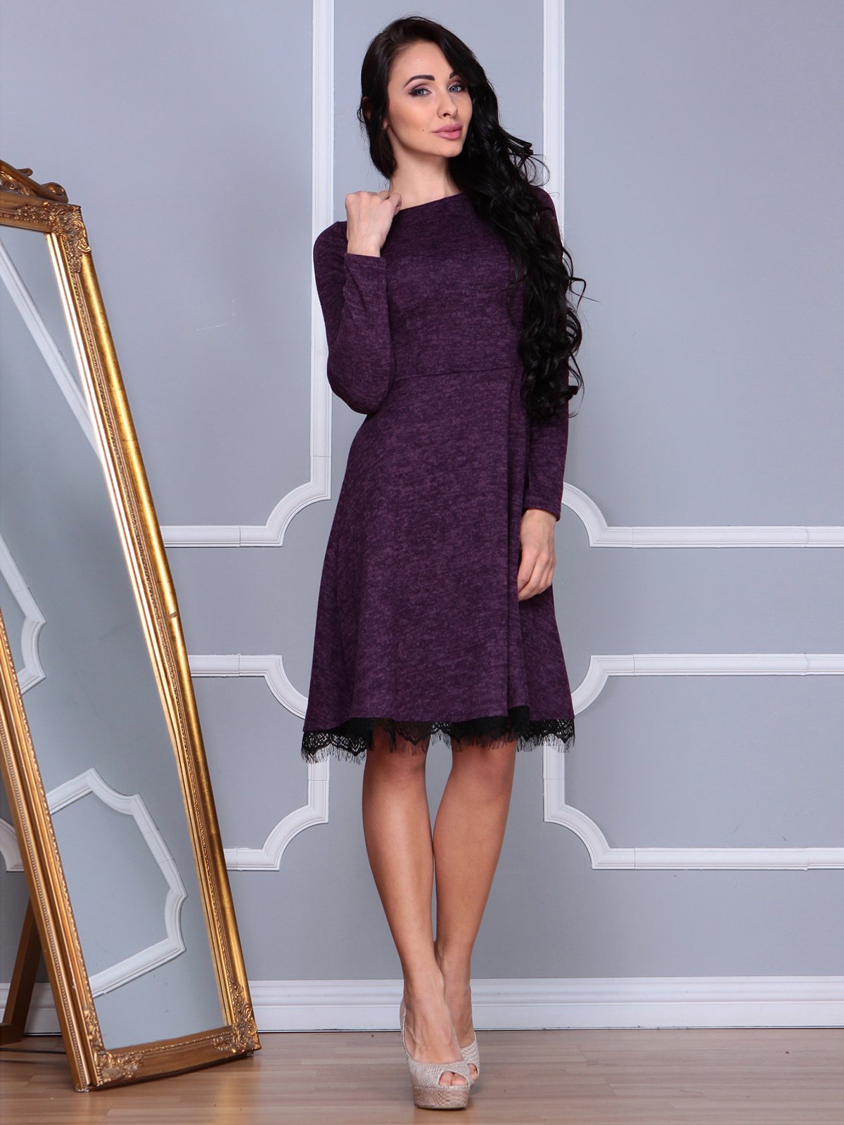 Платье цвета марсала   3891730